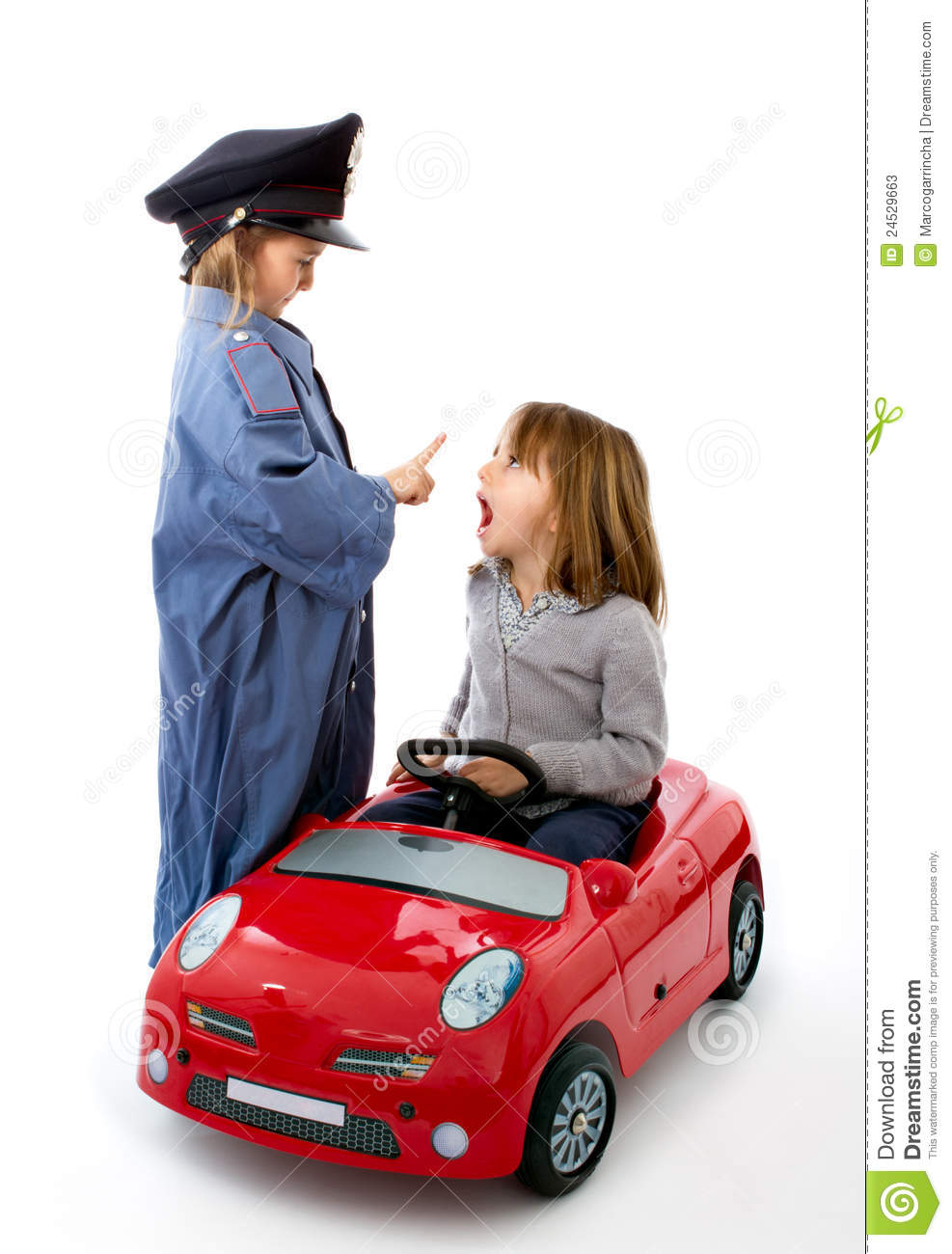 Police Stop A Car With Surprise Of Driver Stock Image Image