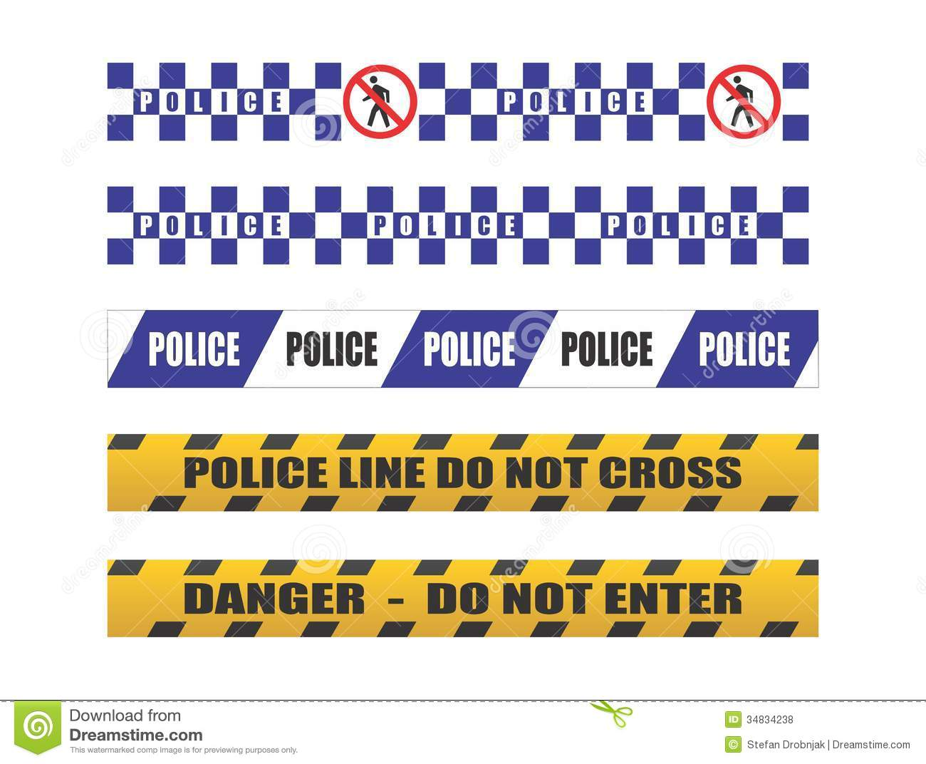 Crime Scene Tape Border Clip Art Police tape royalty free stock