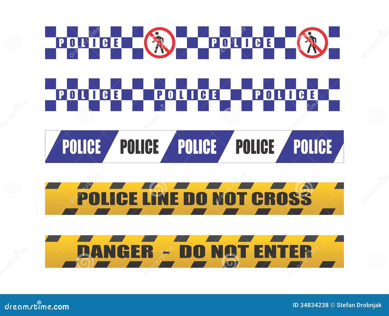Crime Scene Tape Border Clip Art Police tape royalty free stock