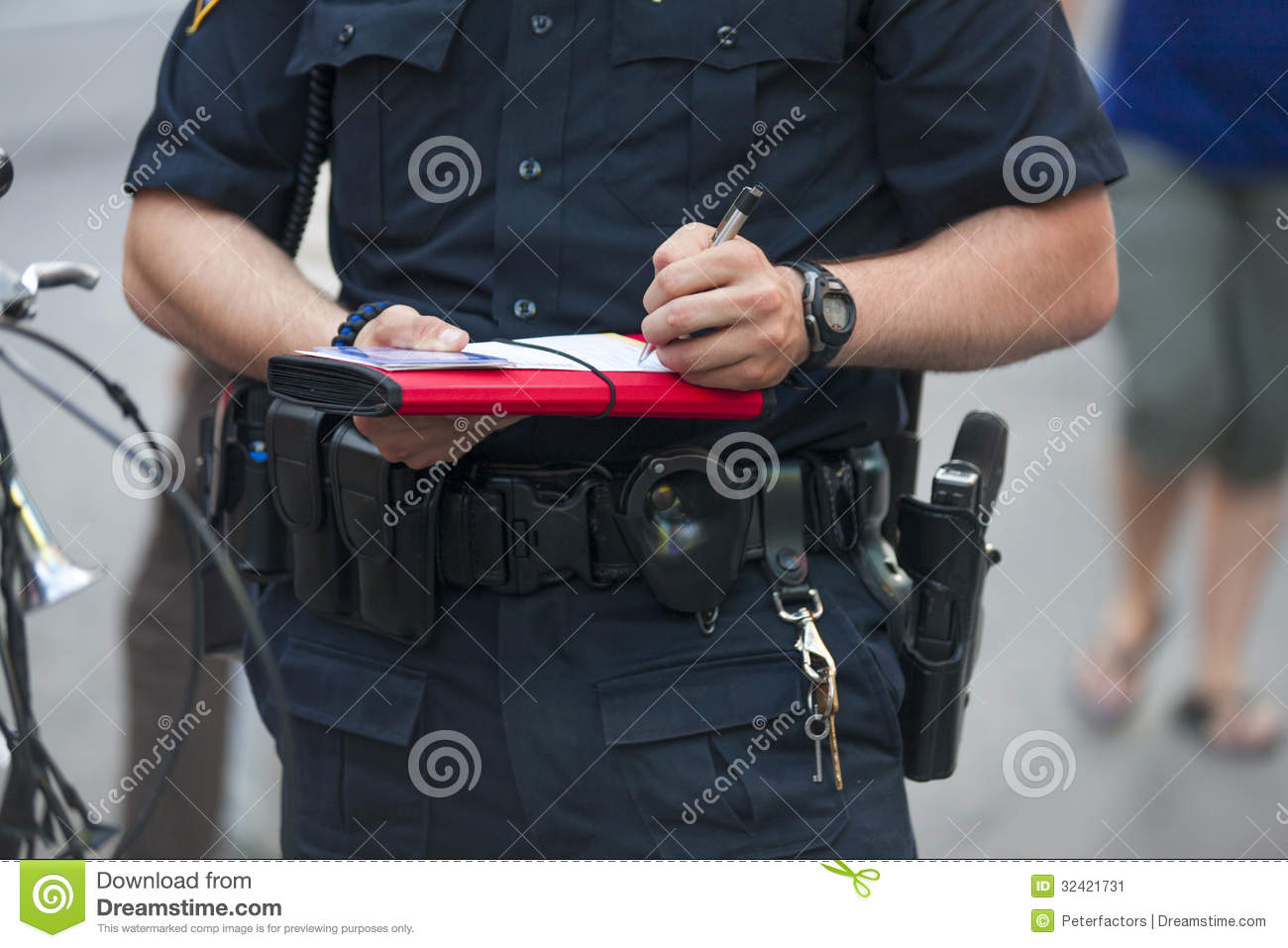 Police writes ticket