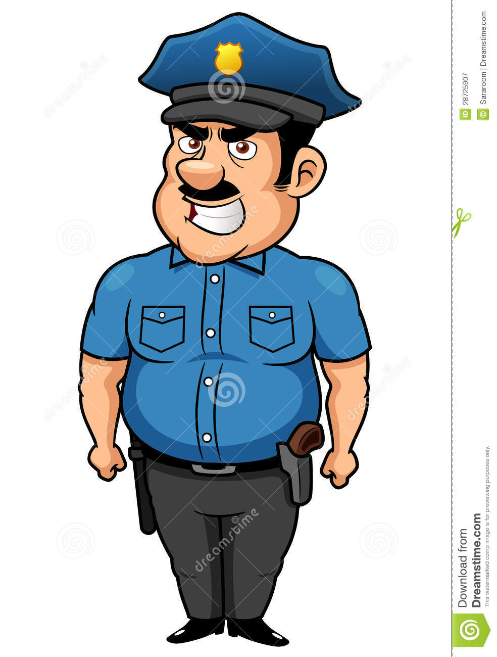 policeman cartoon 28725907