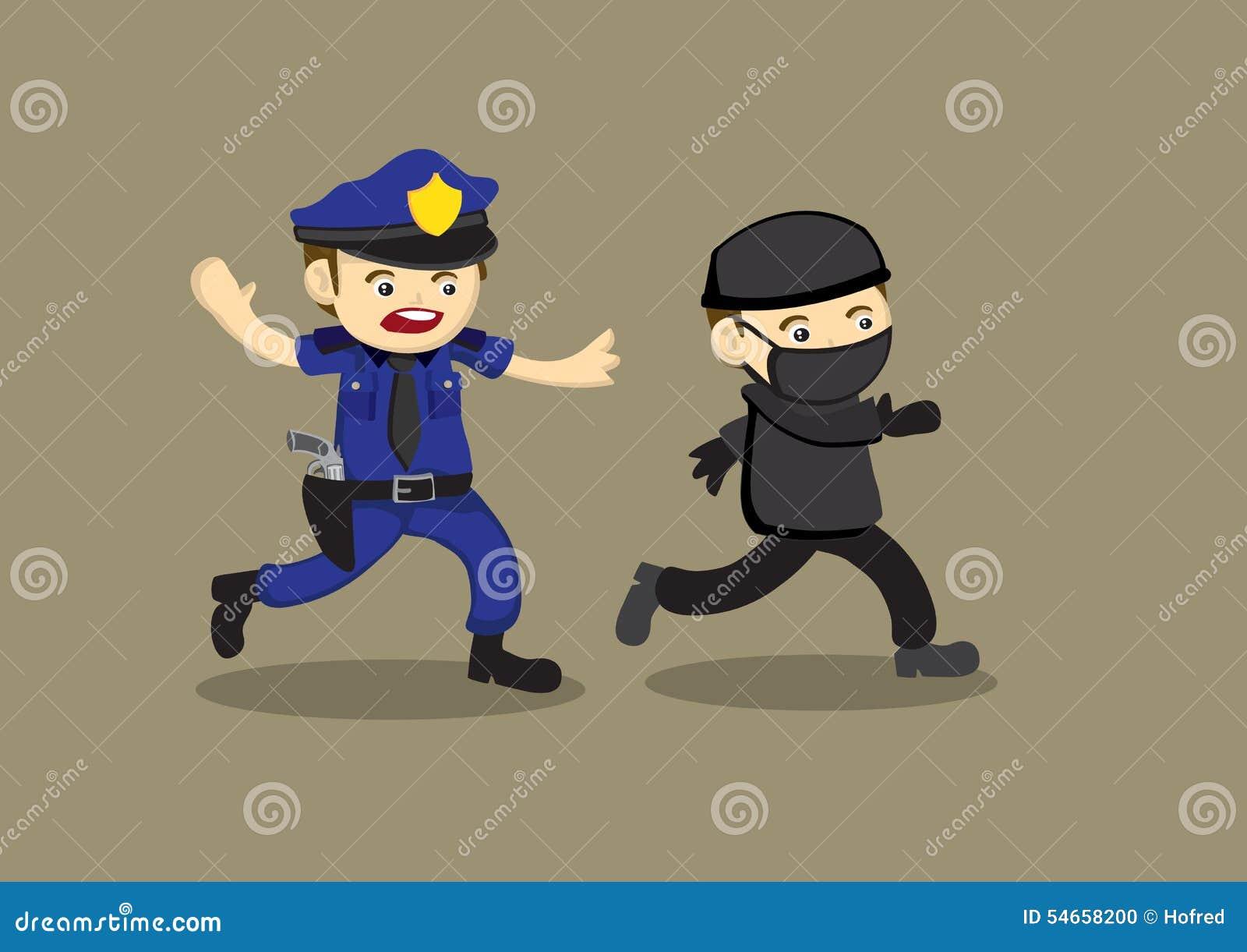 Black Cat Police Cartoon