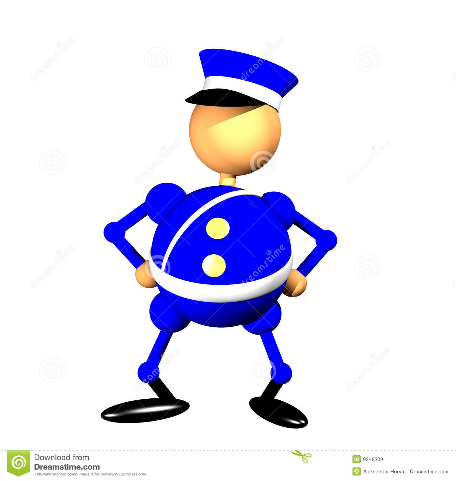 policeman clipart stock illustration illustration of occupation rh dreamstime com clipart policeman badges clipart police star badges