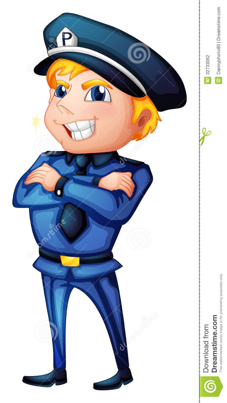 A Policeman With A Complete Uniform Stock Photography