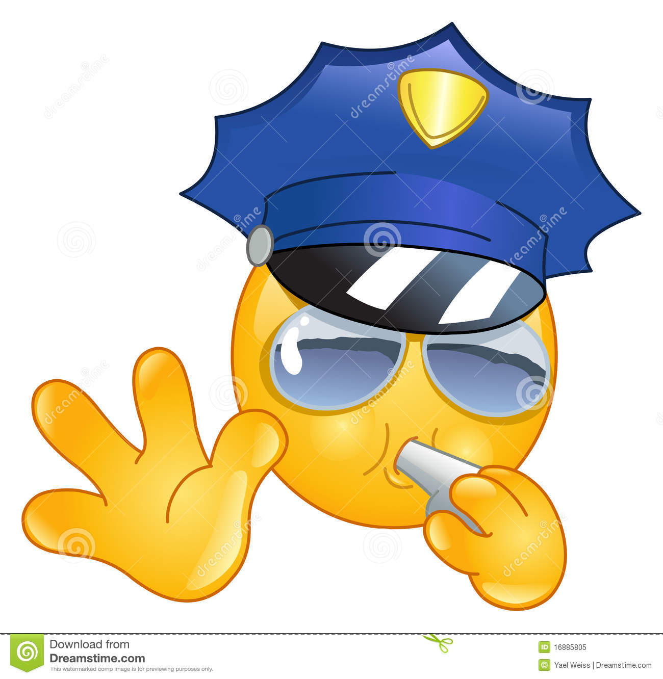 Policeman Emoticon Royalty Free Stock Photo - Image: 16885805