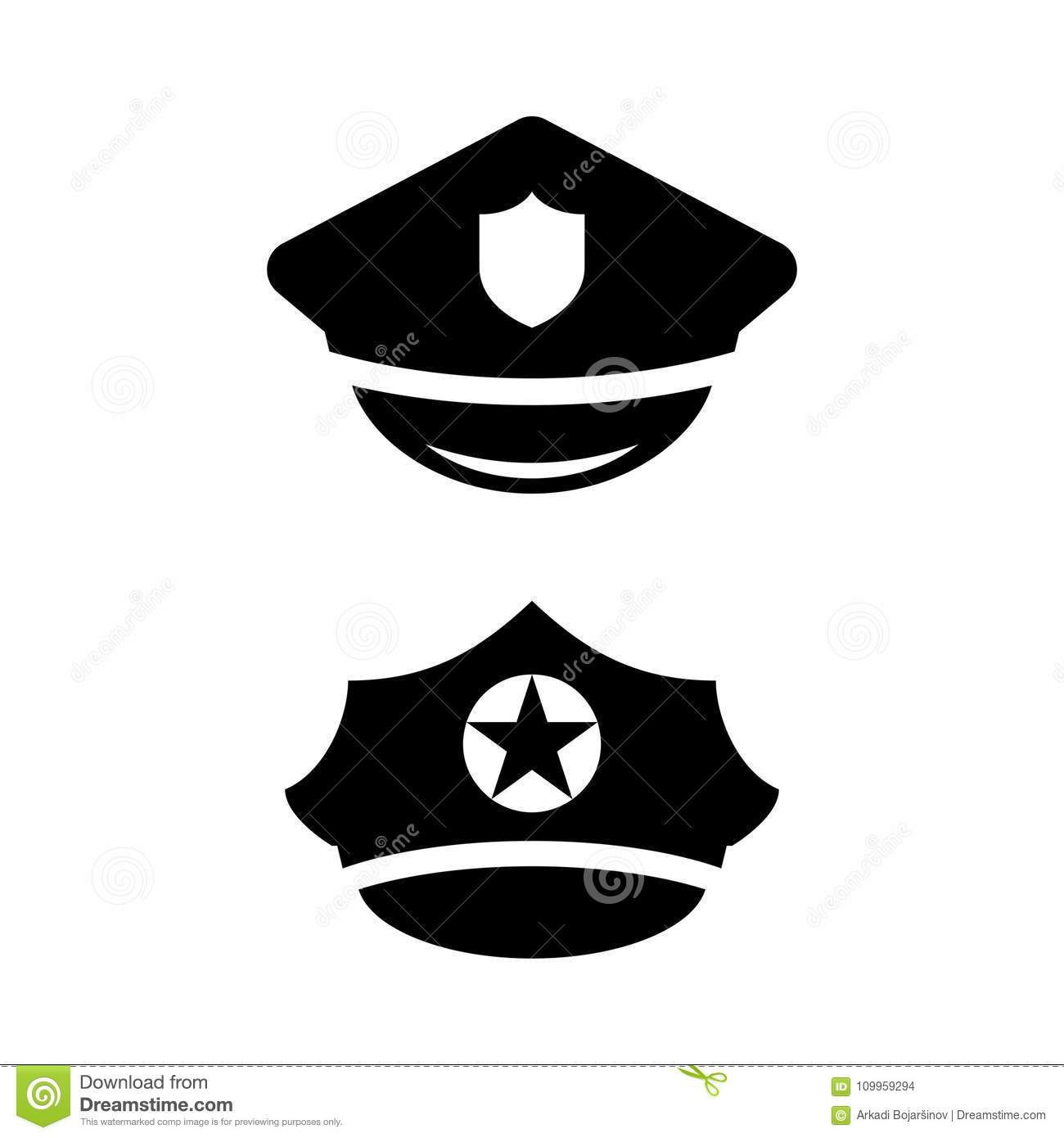policeman hat vector icon stock vector illustration of aviation