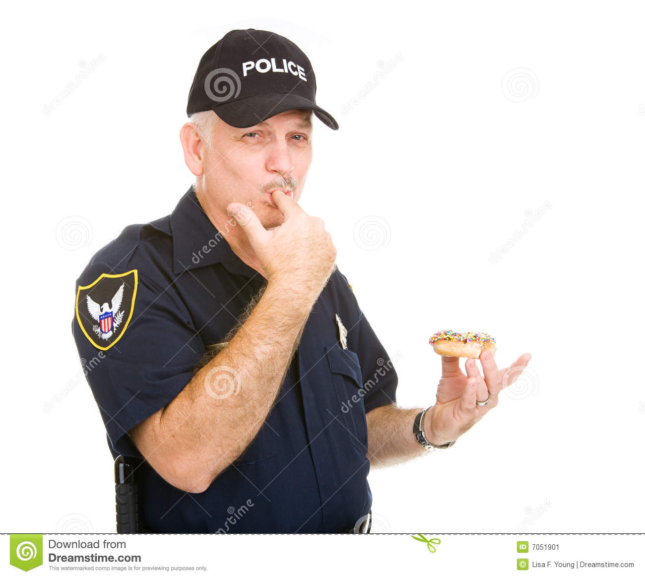 Fat Cop Eating Donuts Images Free Download