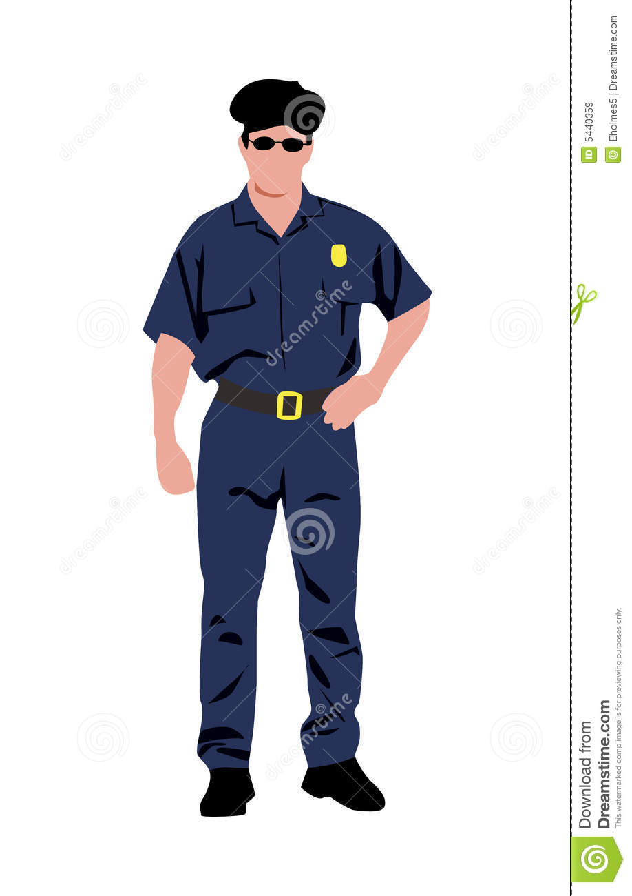 Policeman Vector Illustration Stock Illustration ...