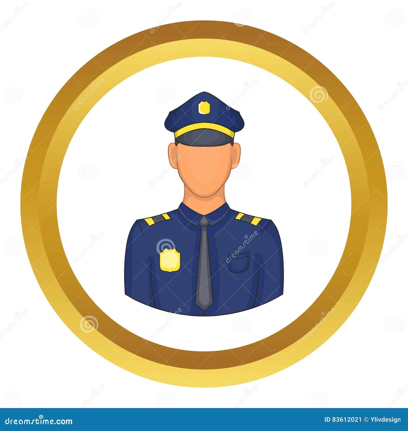 policemen vector icon stock vector image 83612021