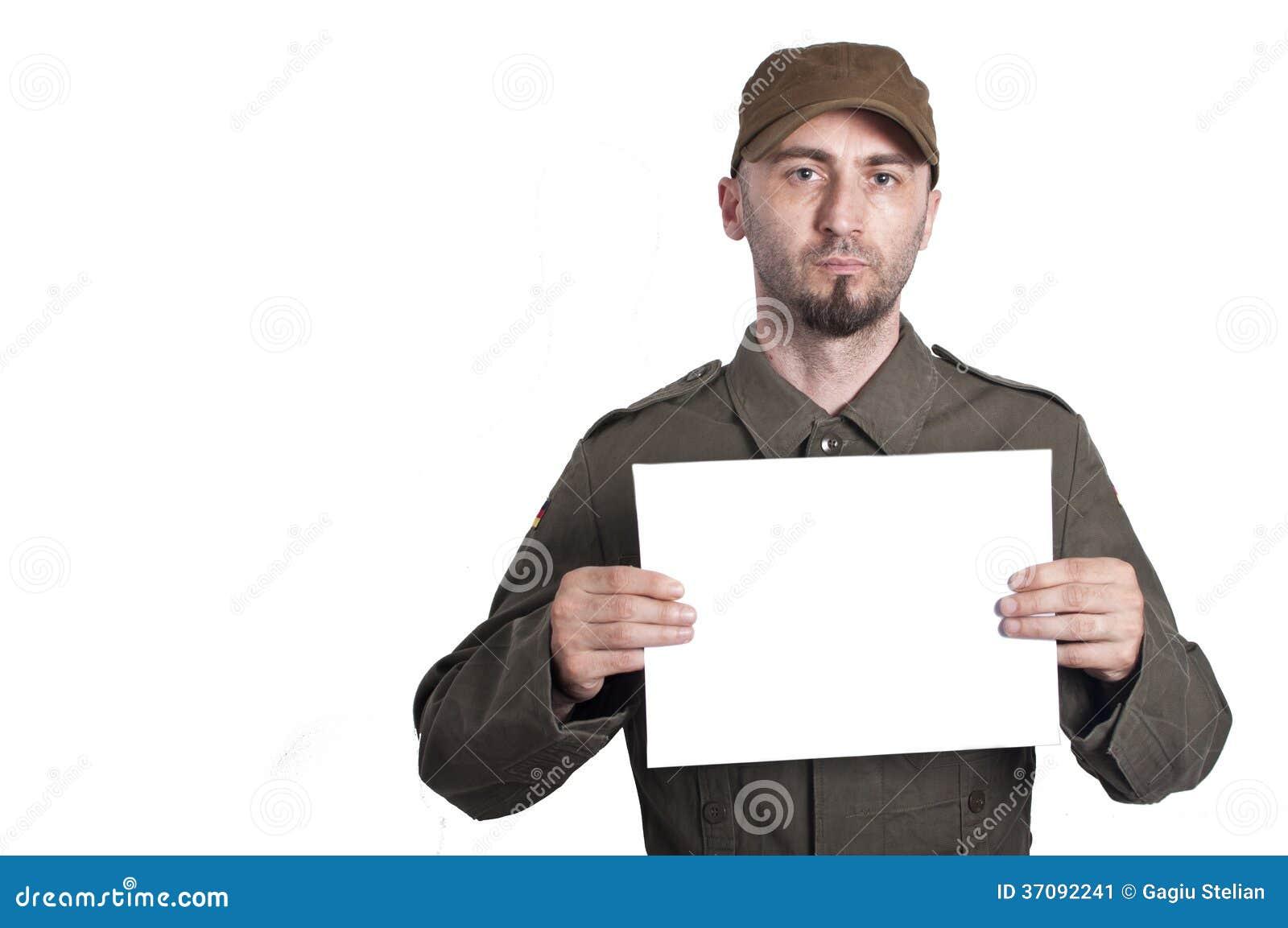 Download Polici wojskowej mugshot obraz stock. Obraz złożonej z grunge - 37092241