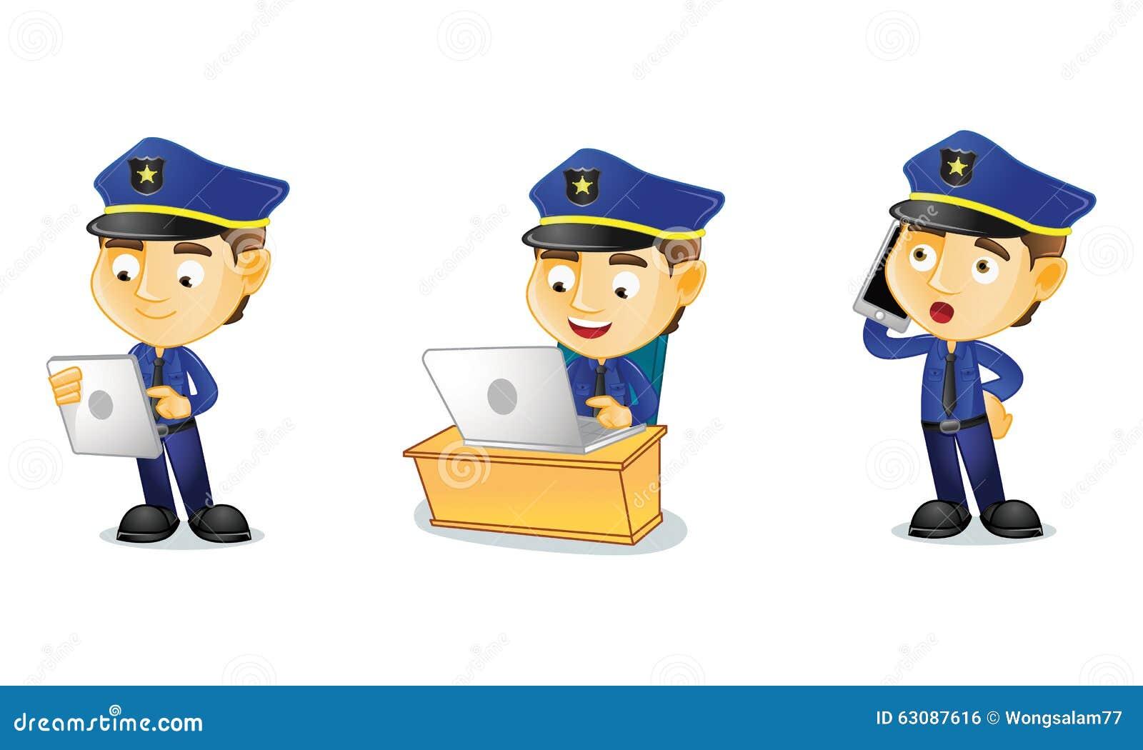 Download Policier 3 illustration de vecteur. Illustration du recherche - 63087616