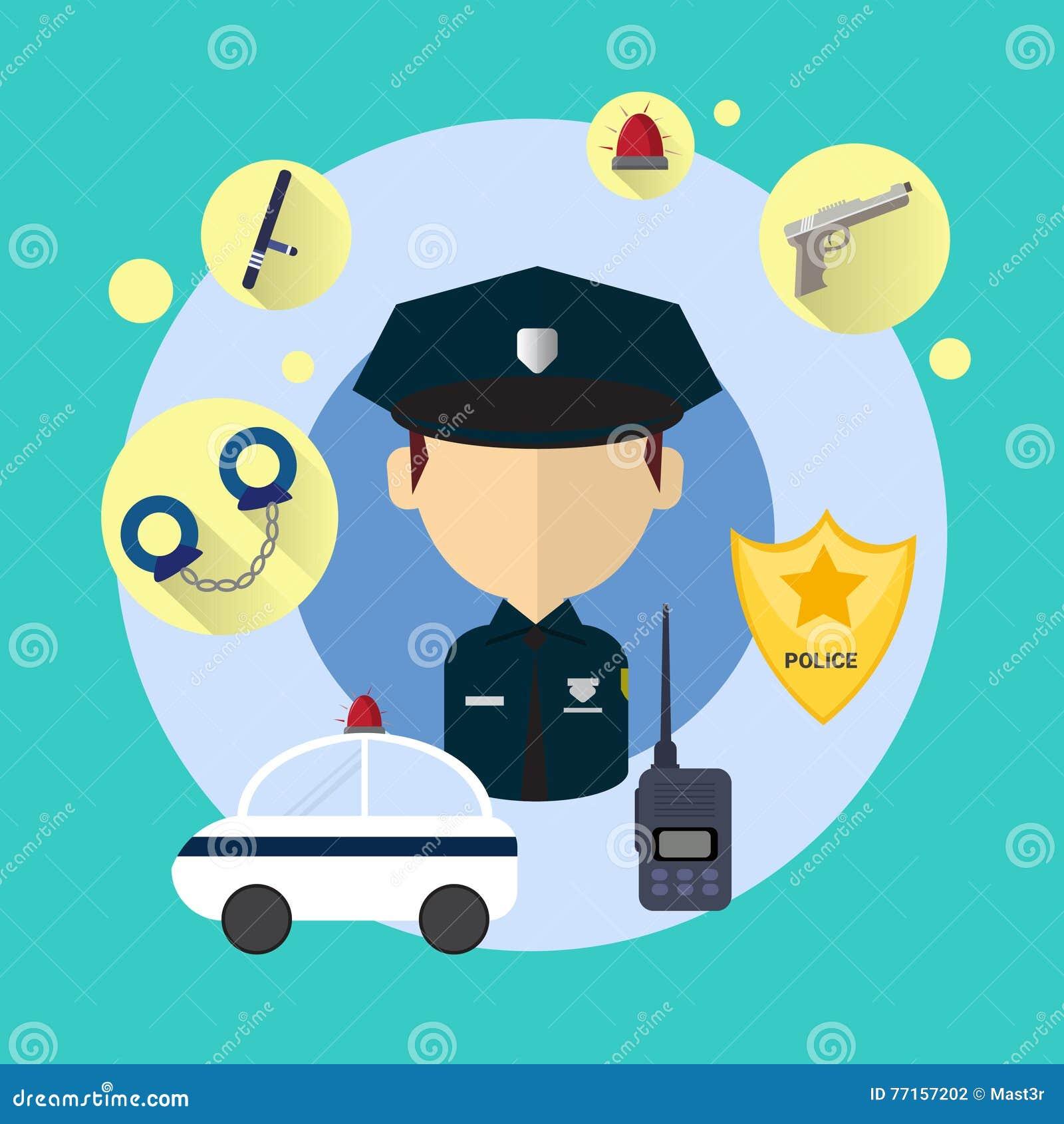 Policier Man Icon
