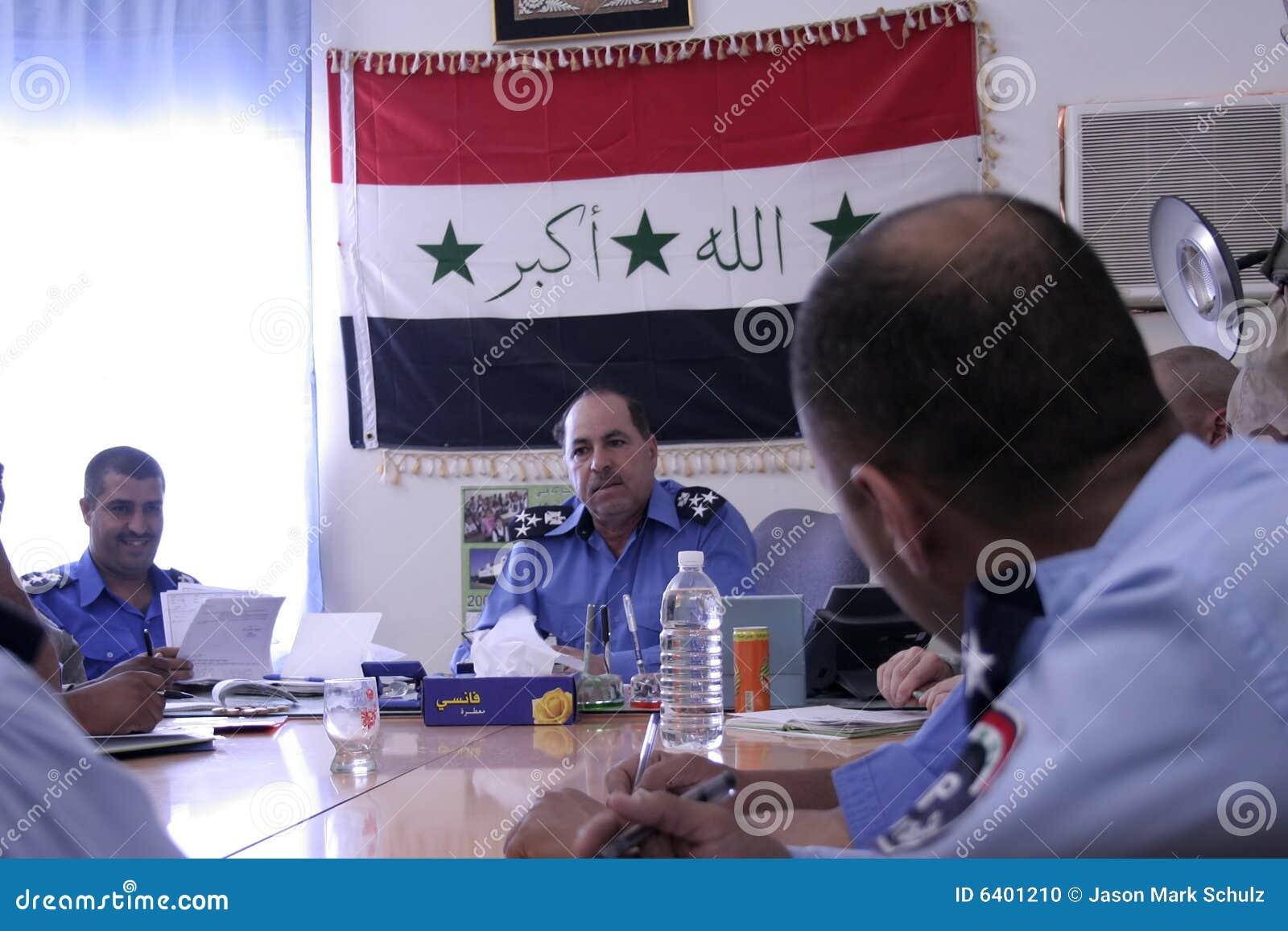 Policja iracka regionalna spotkanie