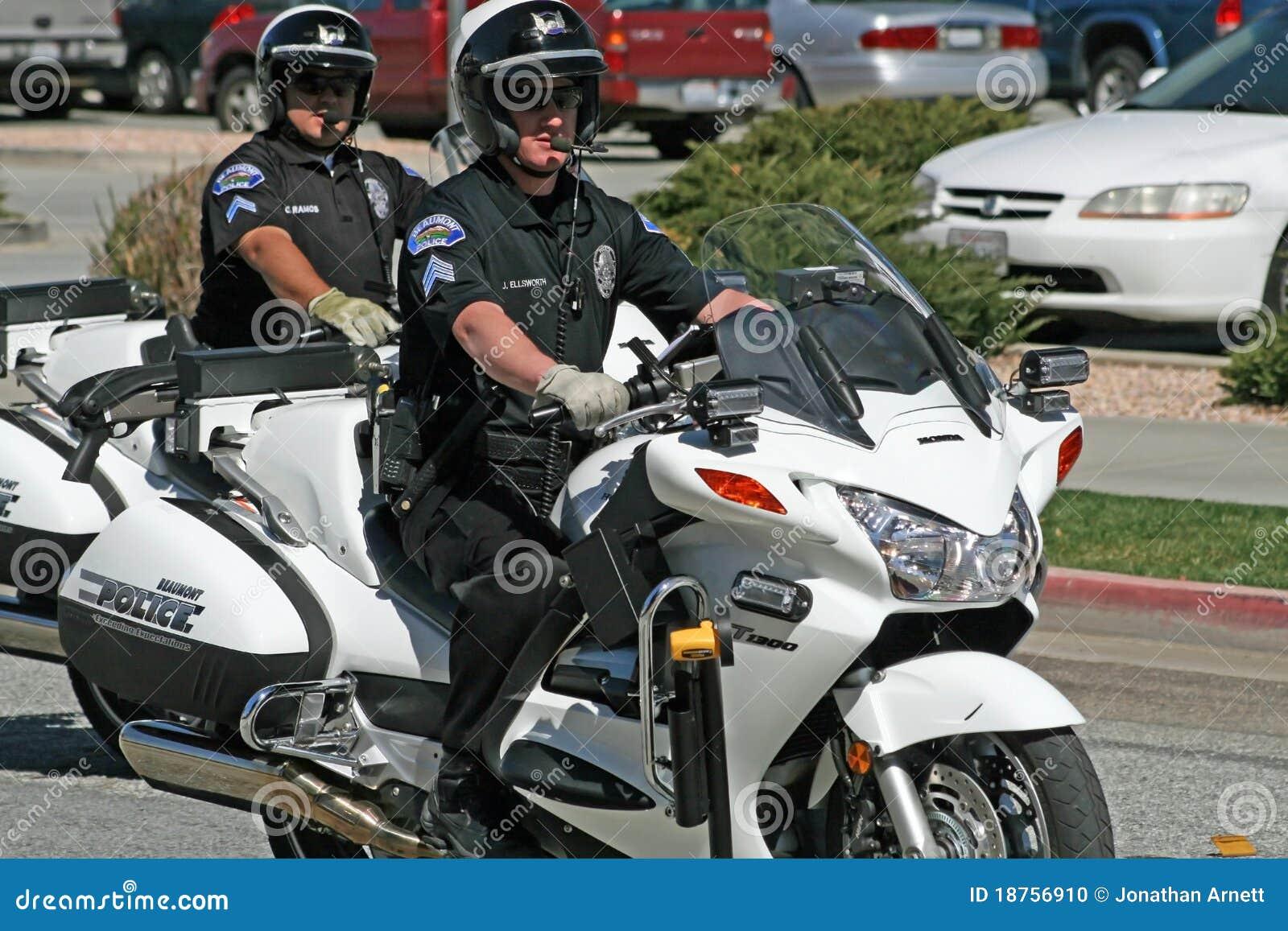 Policjanta motocykl