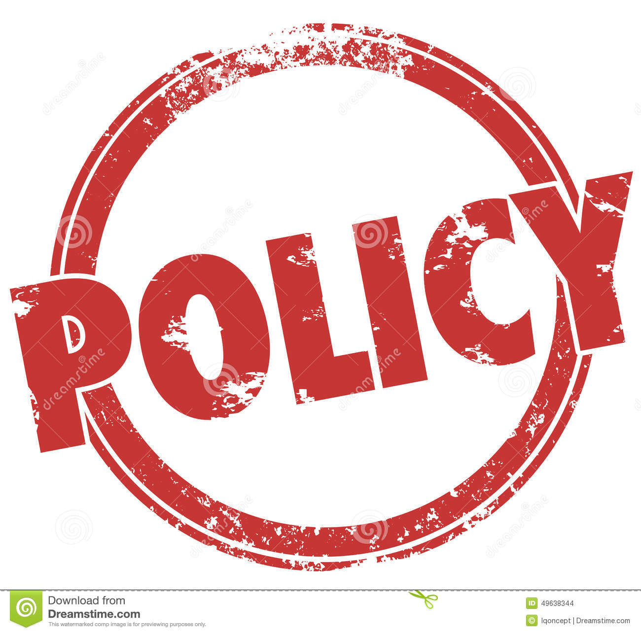 Policy Word Round Stamp Official Rules Guidelines