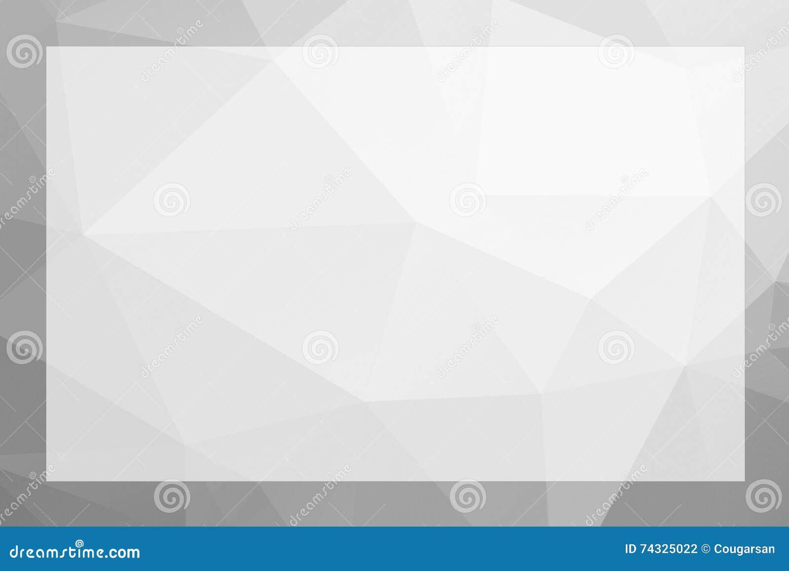 Poligonalny geometryczny abstrakt textured granica i tło popielaci
