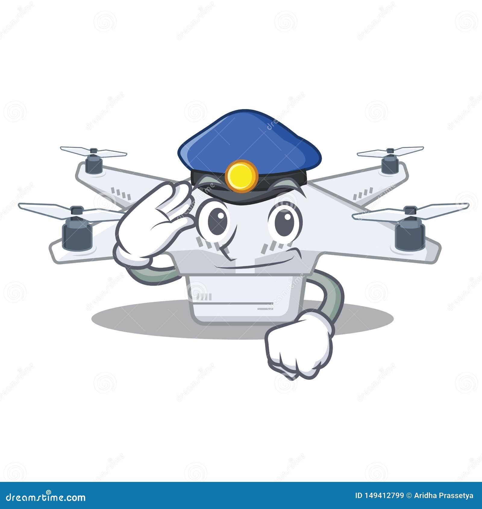 Polisen surrar isolerat med i maskot
