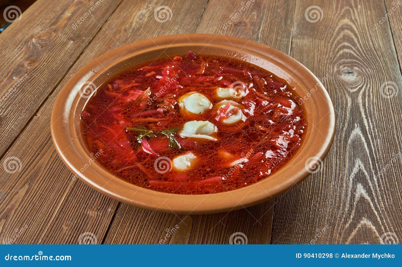 Polish Beet Soup With Dumplings Stock Photo - Image: 90410298