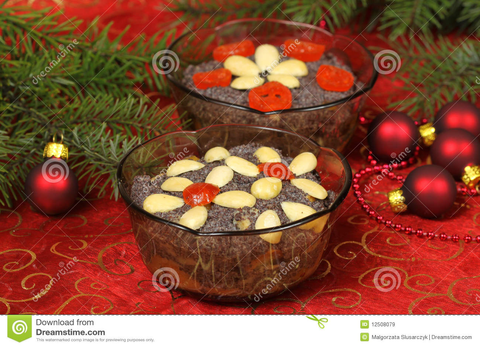 Traditional Christmas Desserts.Polish Christmas Desserts Makowki Stock Image Image Of