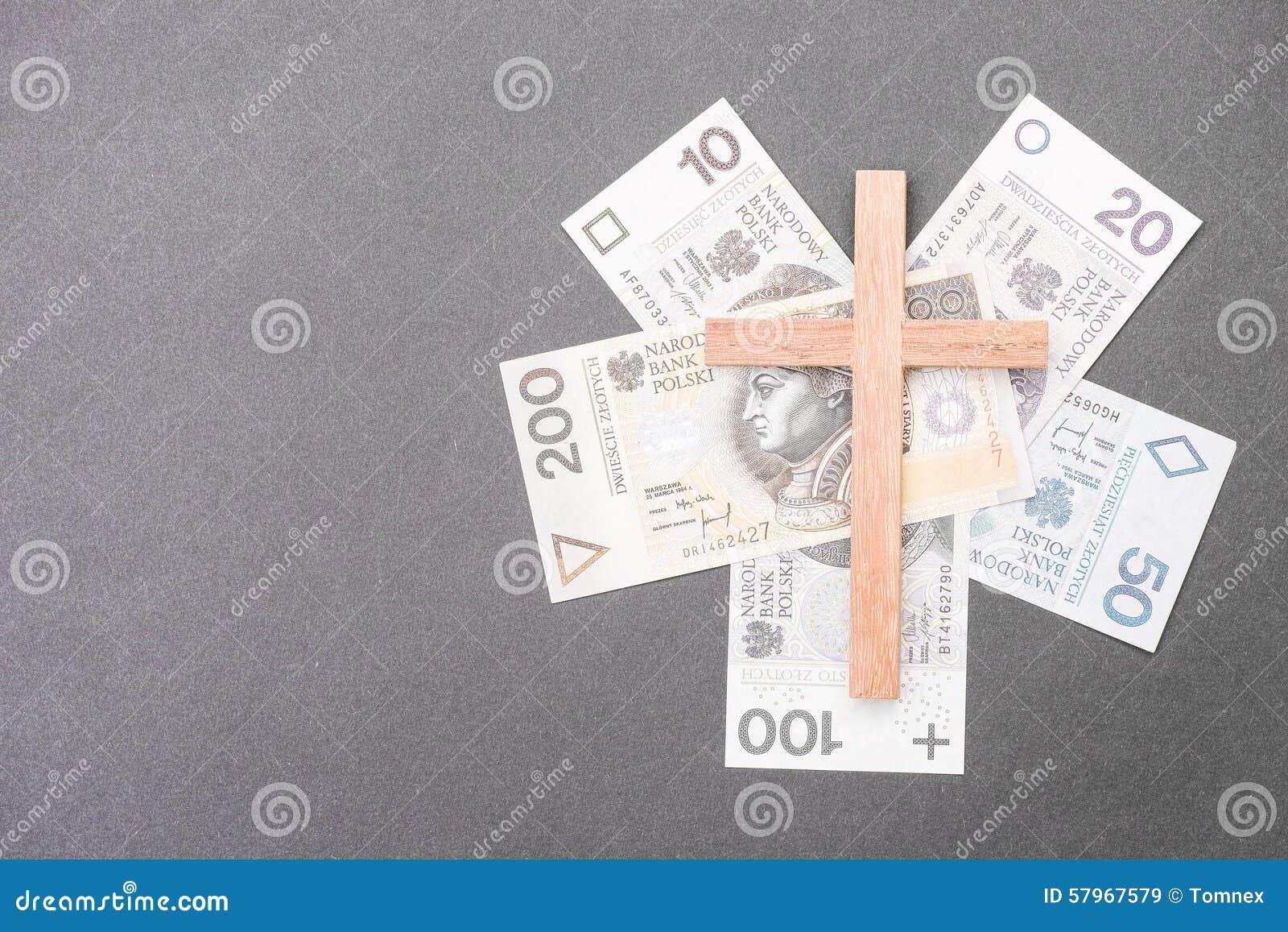 Polish Church Money Stock Image Image Of Belief Banknotes 57967579