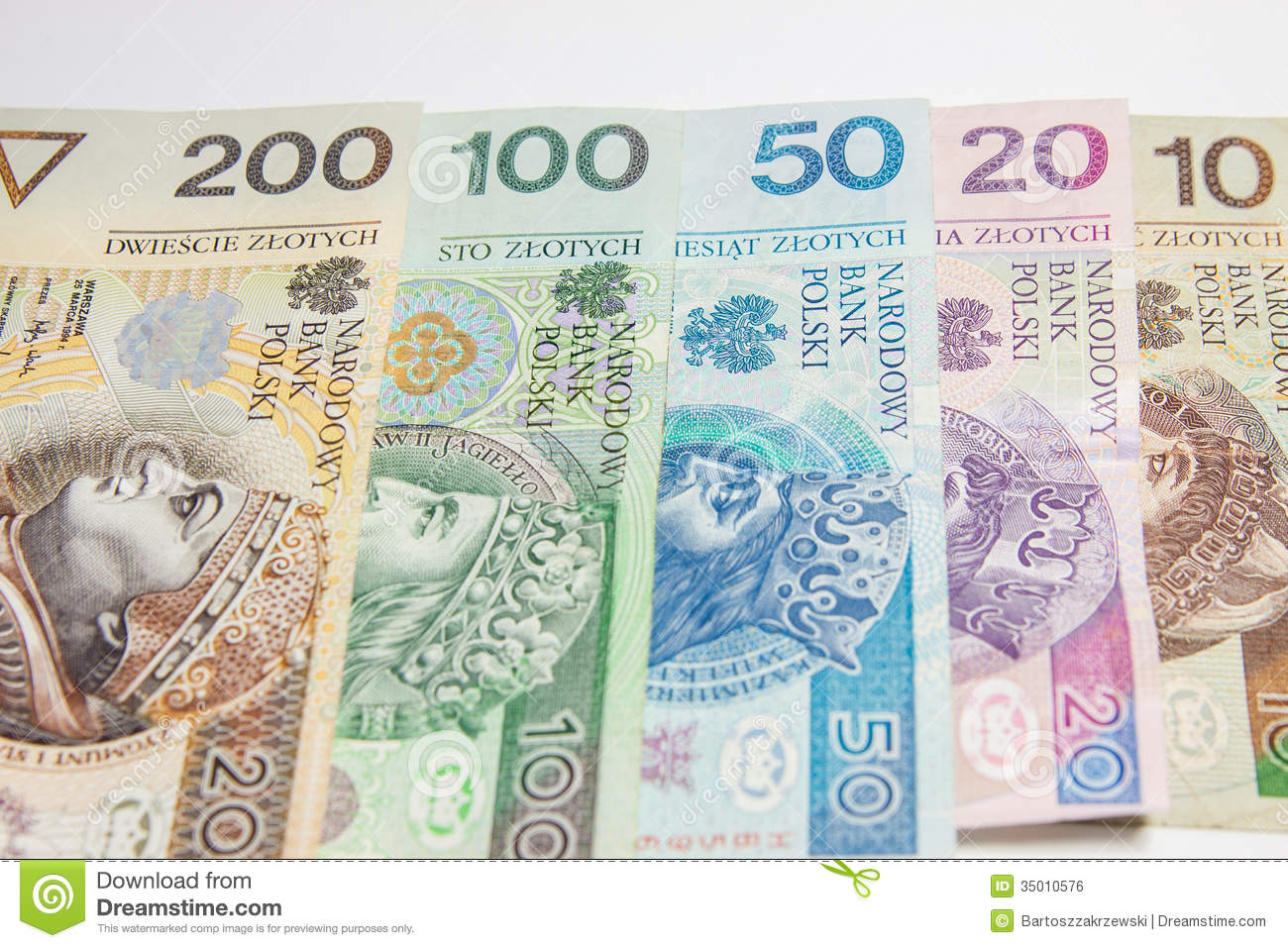 Polish Currency Royalty Free Stock Image - Image: 35010576