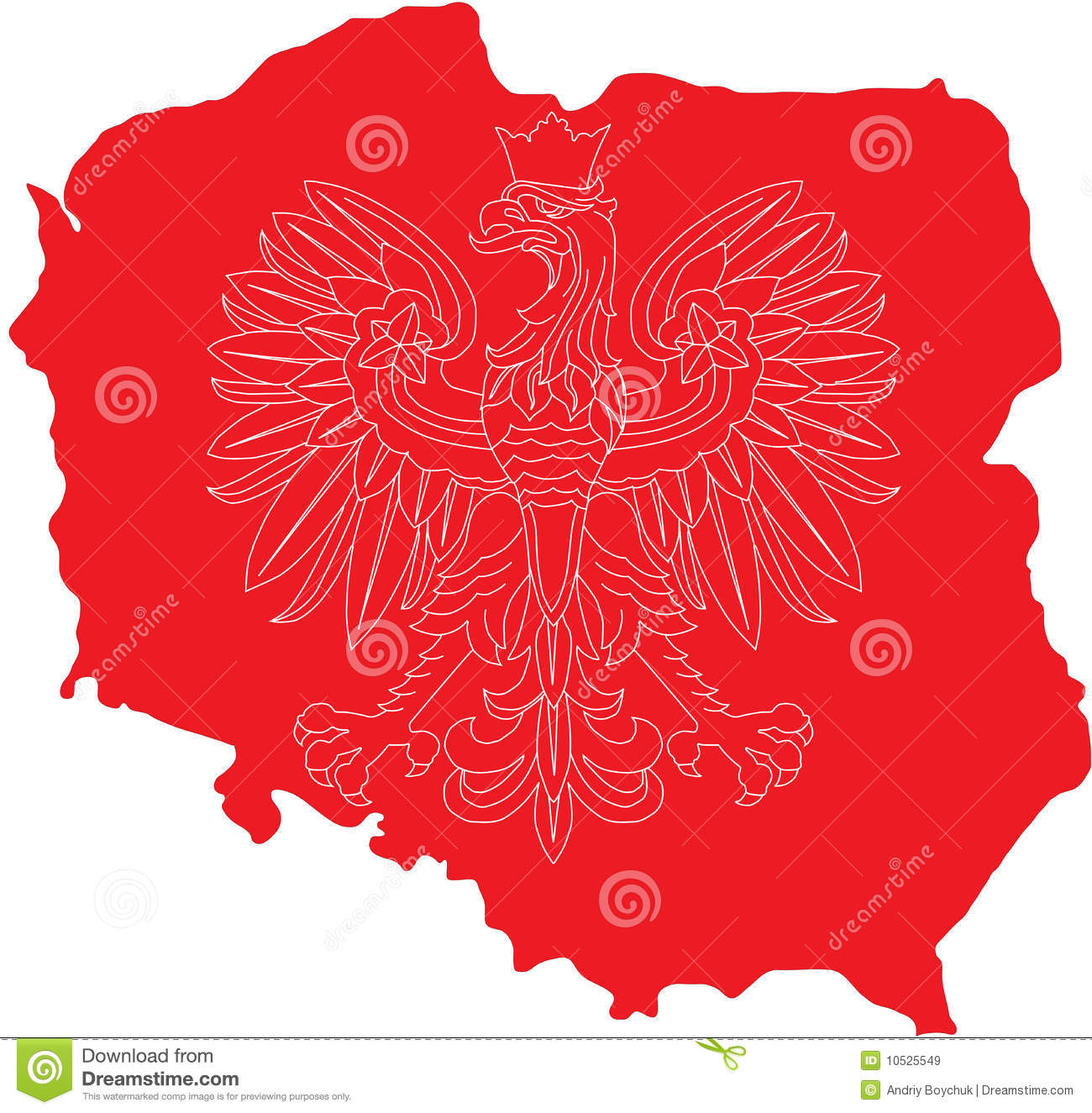 polish eagle on polish land royalty free stock images image