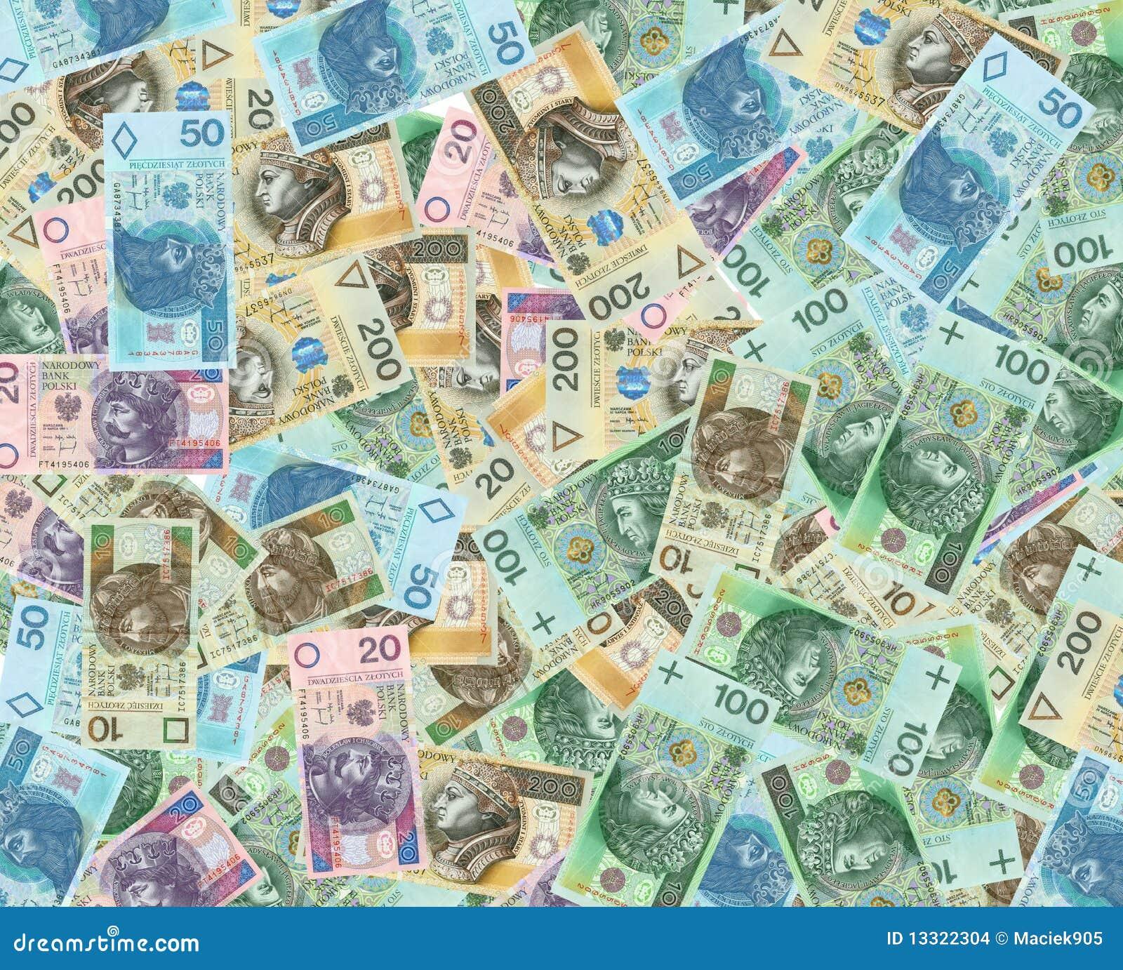 Polish money bank notes