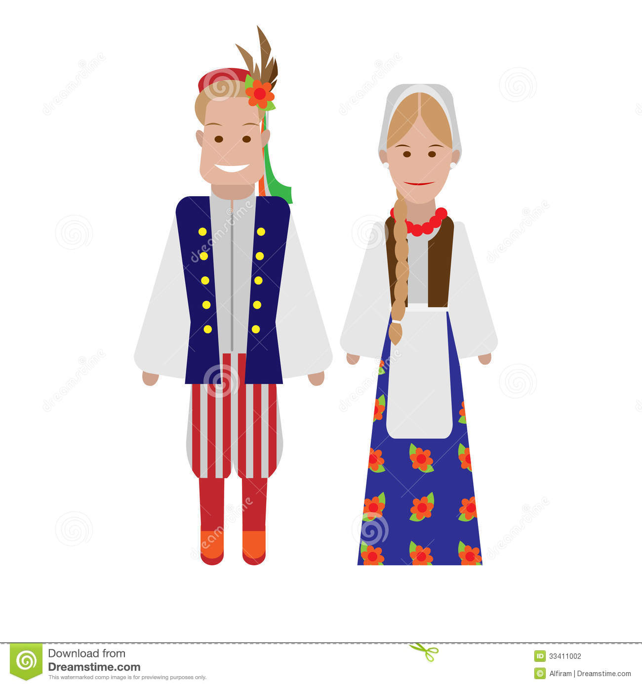 polish national costume stock photography image 33411002