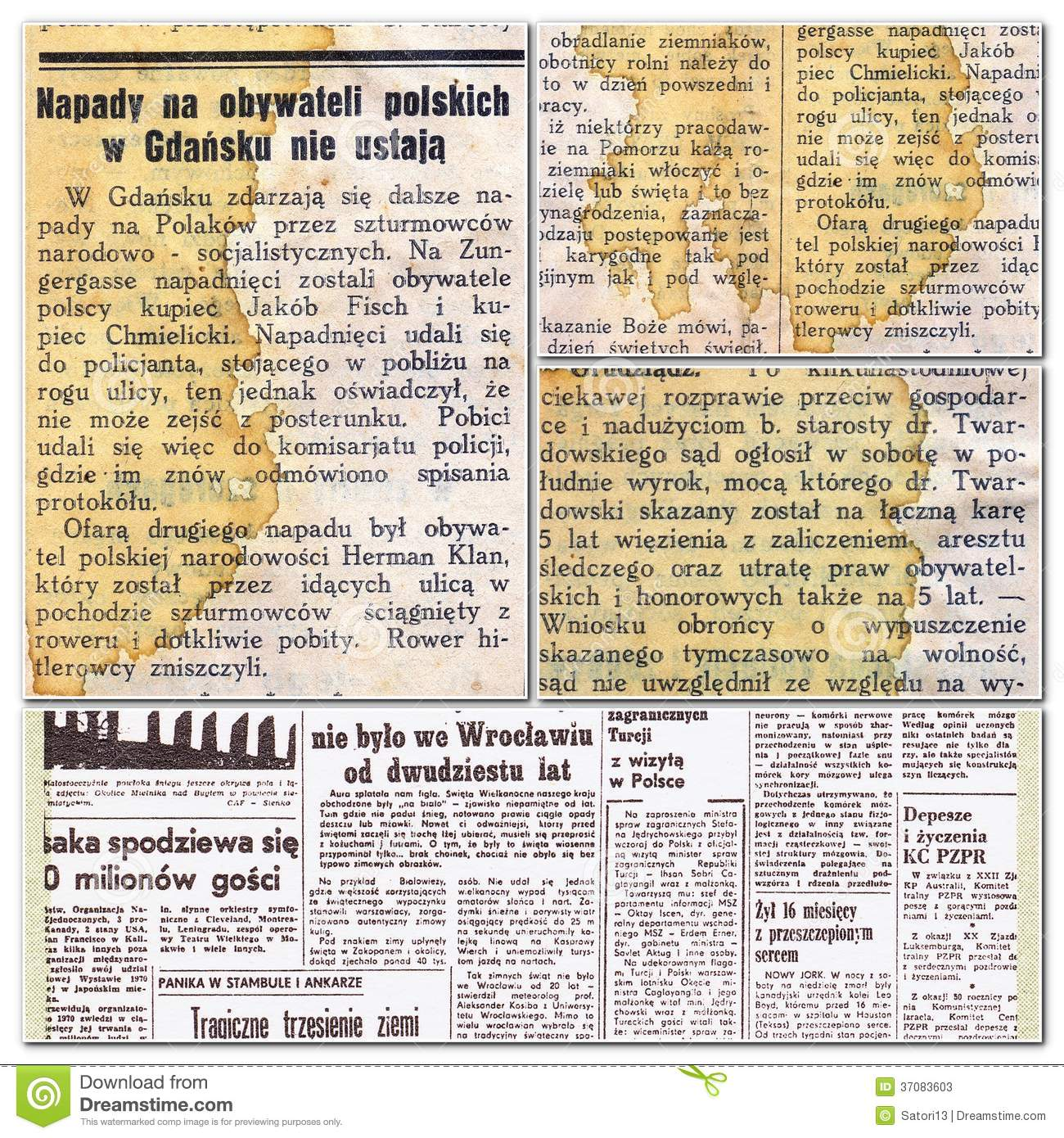 Polish old magazines stock image  Image of articles, design