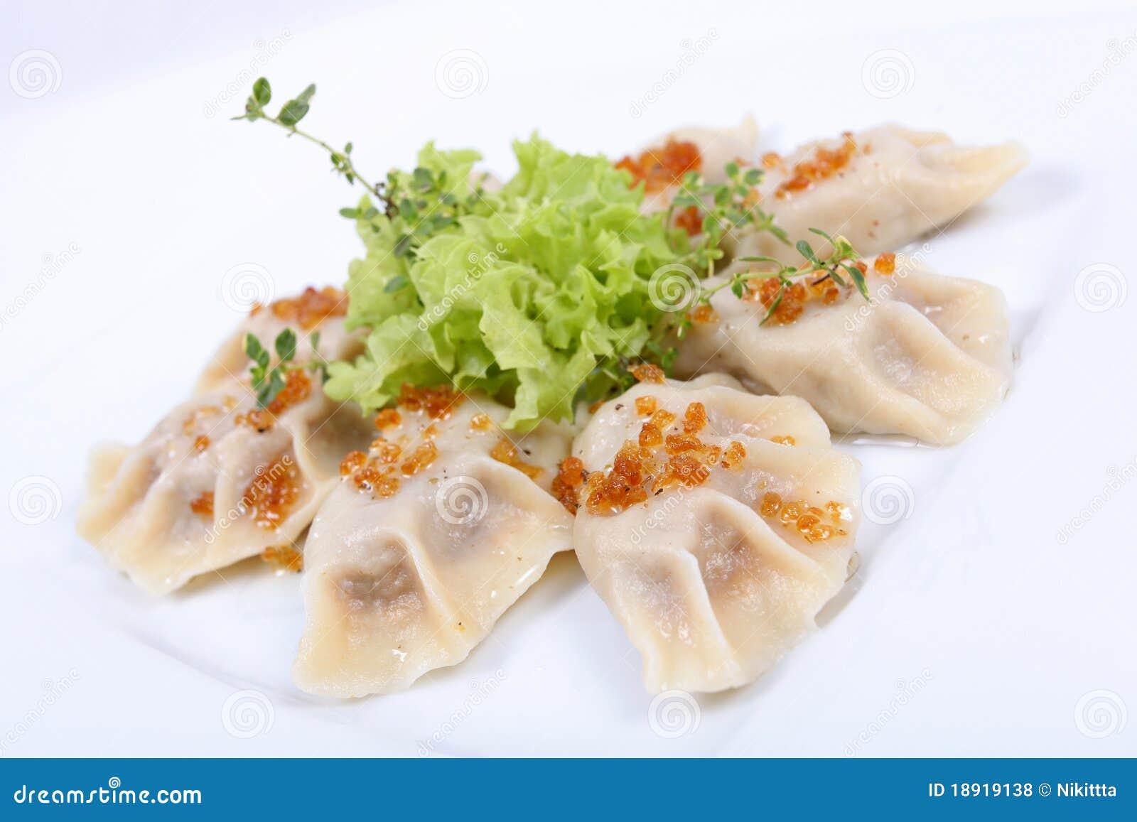 how to serve polish dumplings