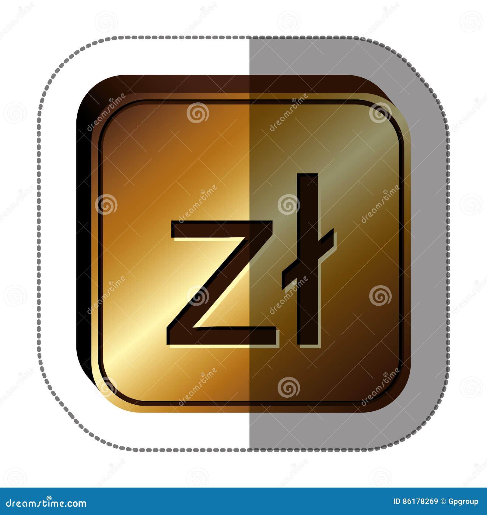 Polish Zloty Currency Symbol Icon Stock Illustration Illustration