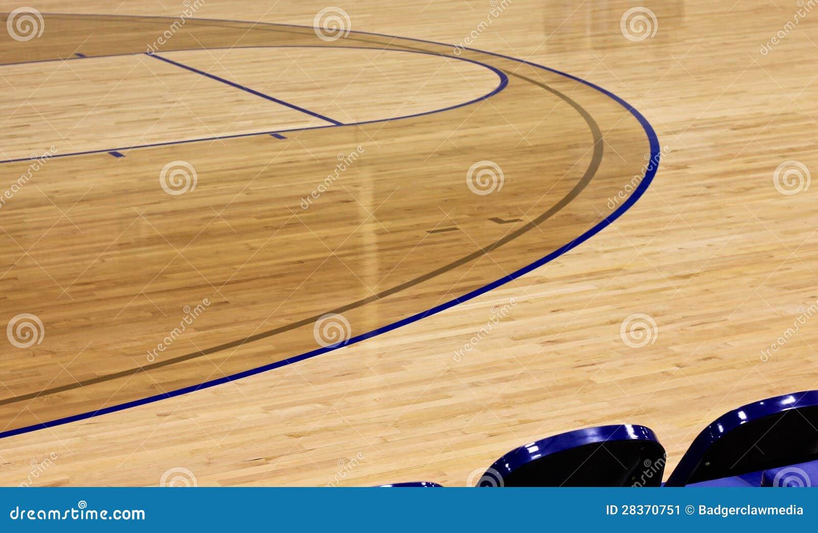 Polished Indoor Basketball Court Background Stock Image - Image ...