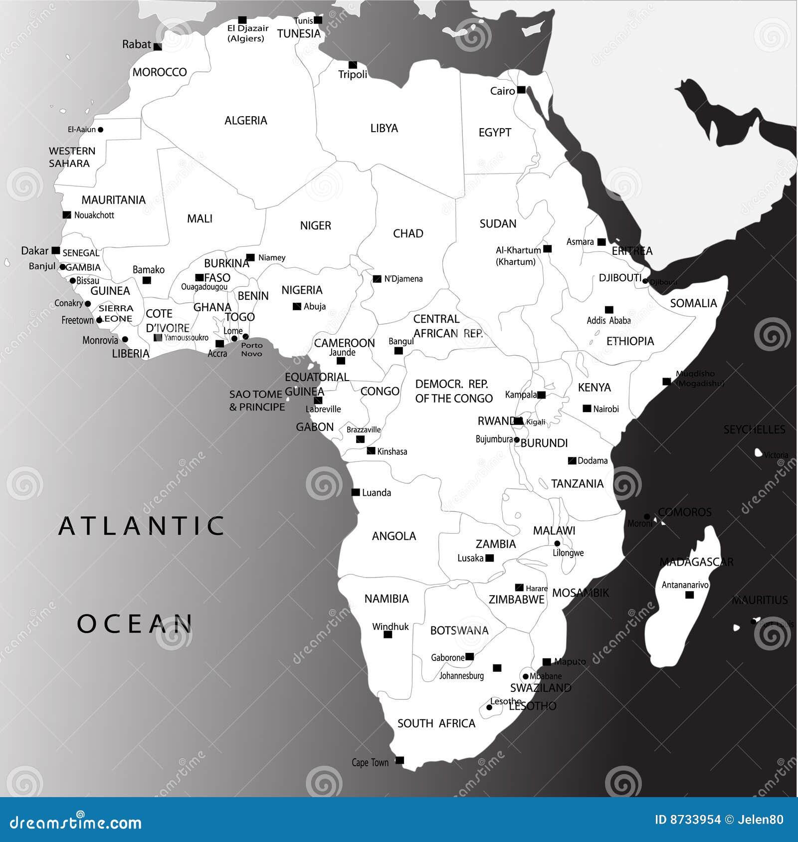 Africa Maps With Capitals Africa Maps With Capitals