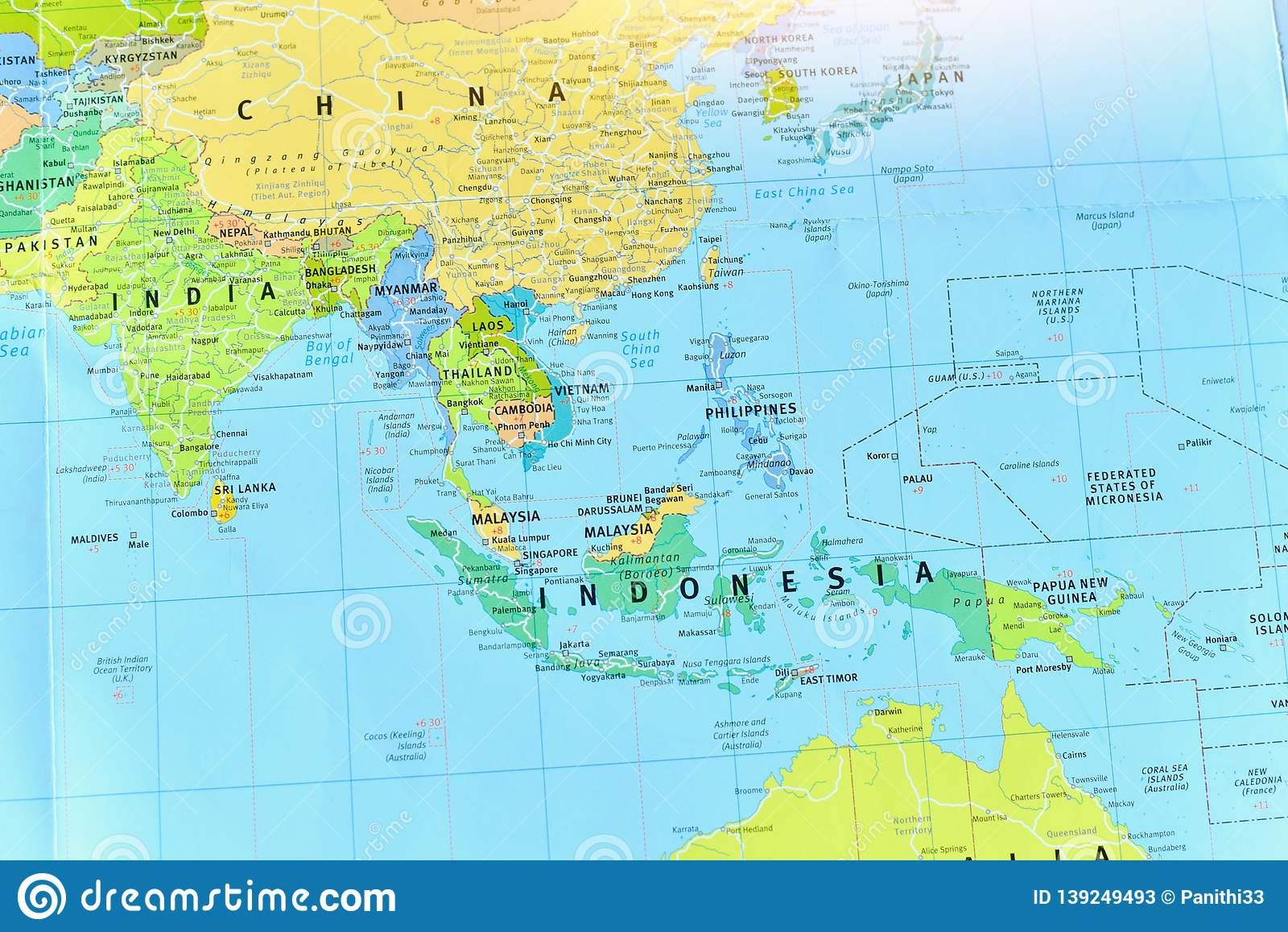 Political Map Of Southeast Asia Countries Stock Image ...