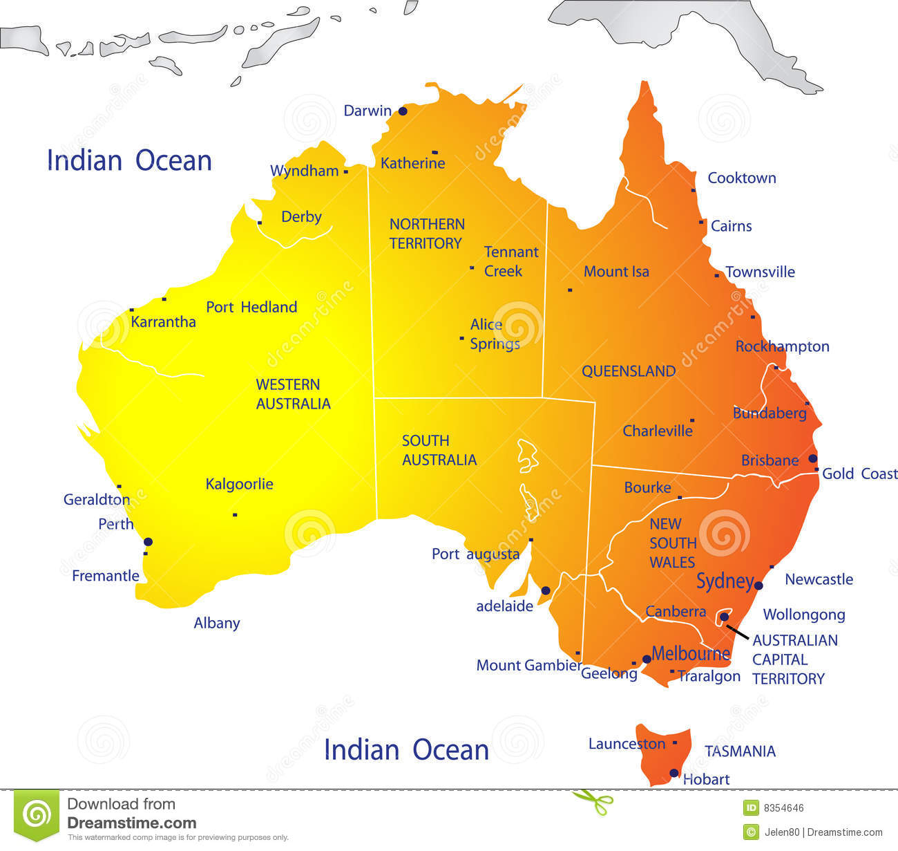 Political Map Of Australia Royalty Free Stock Image Image - Political map of australia