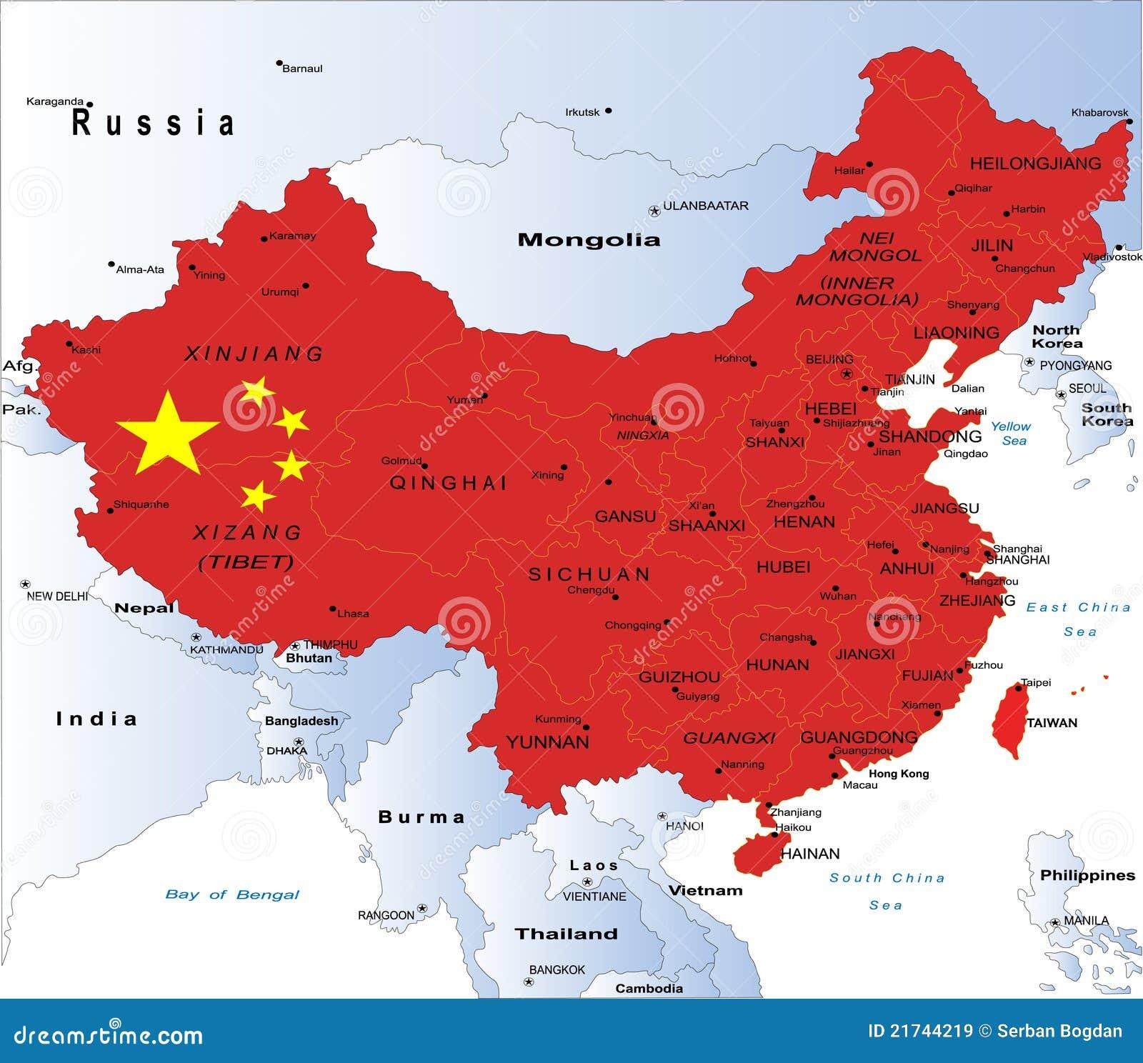 China Map Royalty Free Stock Image Image - Map china