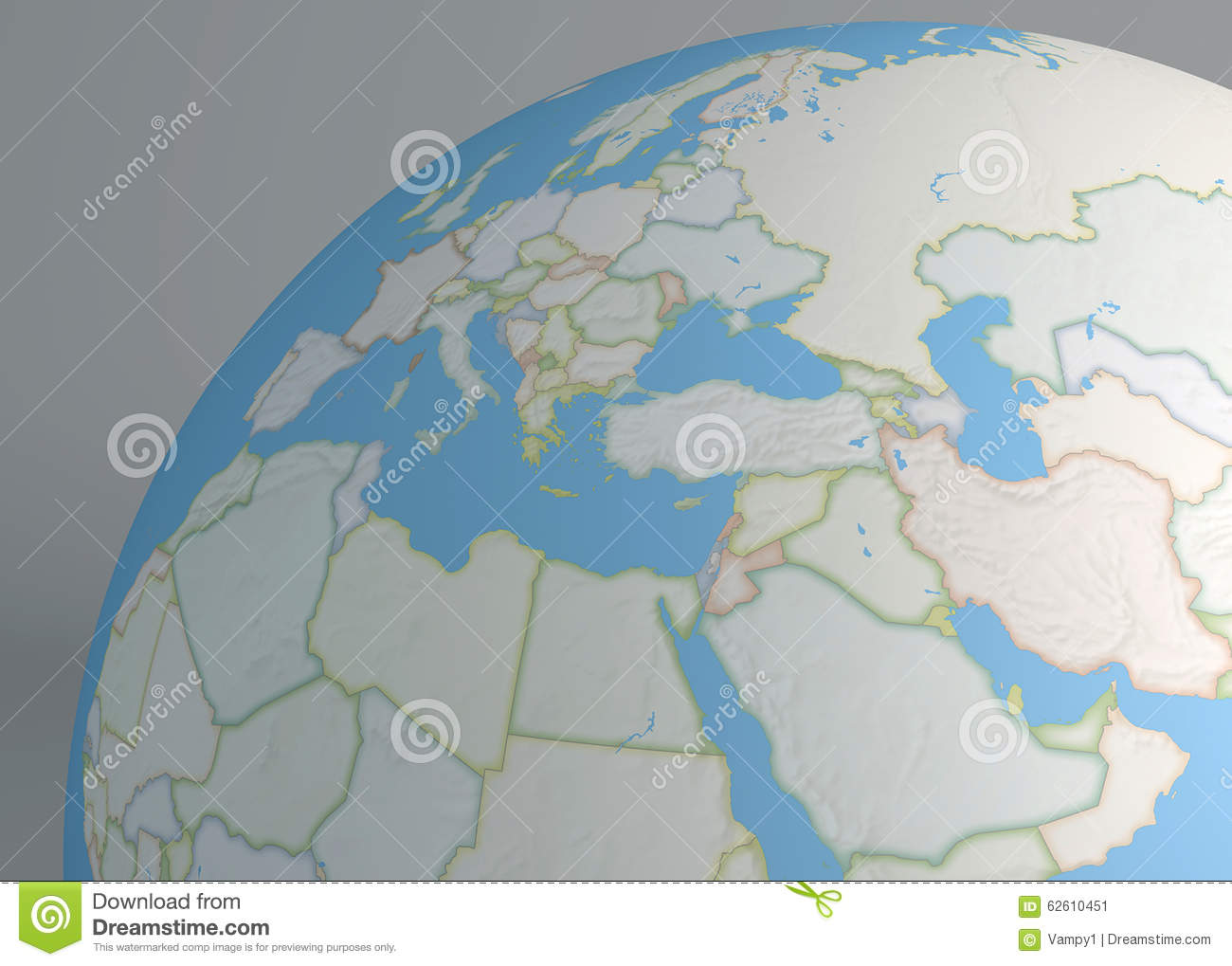 Political Map Globe Of Europe Middle East And North Africa – Globe Map of Europe