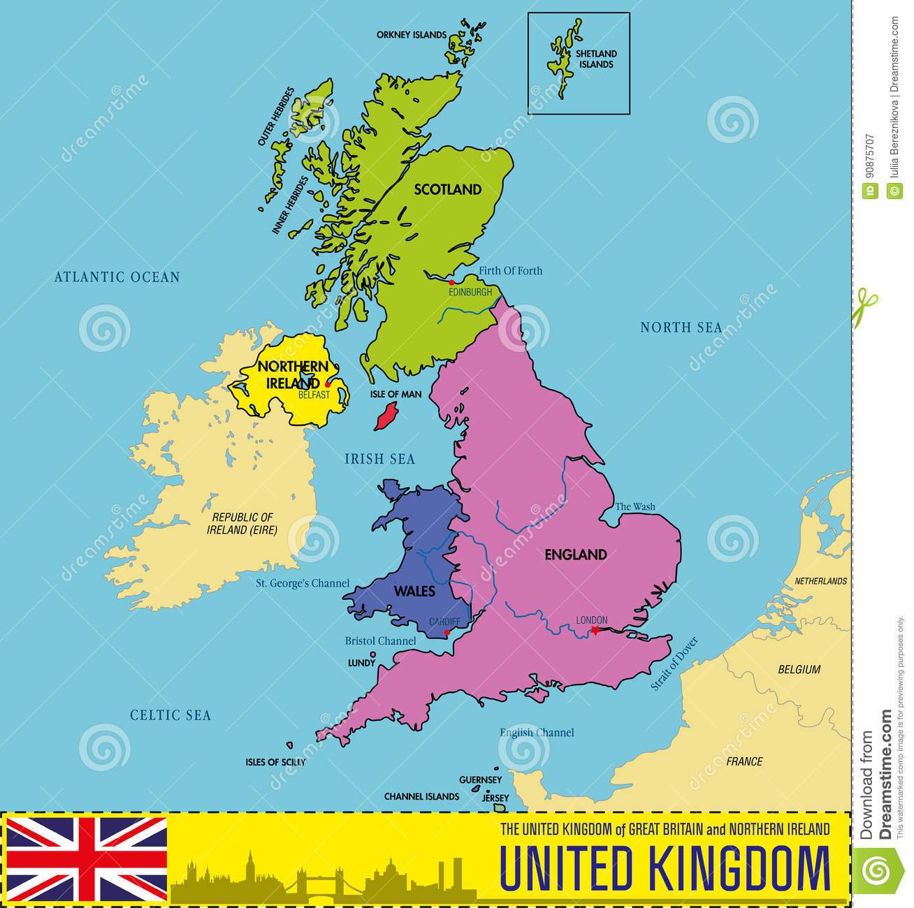 Map Of England Political.Political Map Of United Kingdom With Regions And Their Capitals