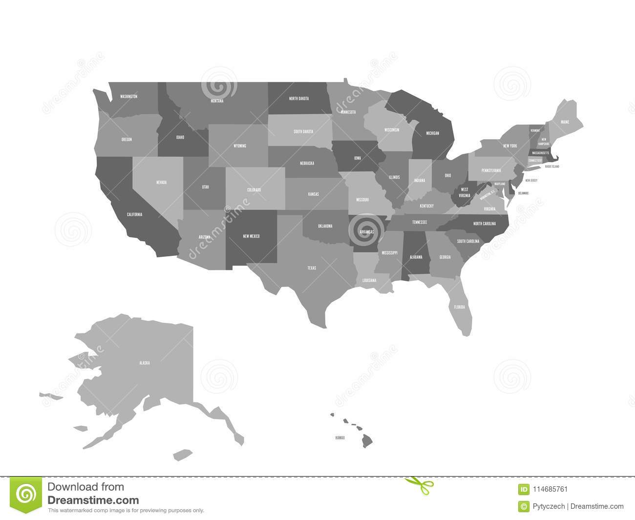 Political Map Of United States Od America, USA. Simple Flat ... on simple state maps, simple asia map, simple street map, simple easter cards, road map usa, simple road maps, simple climate map usa, simple europe map, simple earth map, simple us map, simple drawing of usa, simple map australia, world mapwith usa, simple outline of usa,