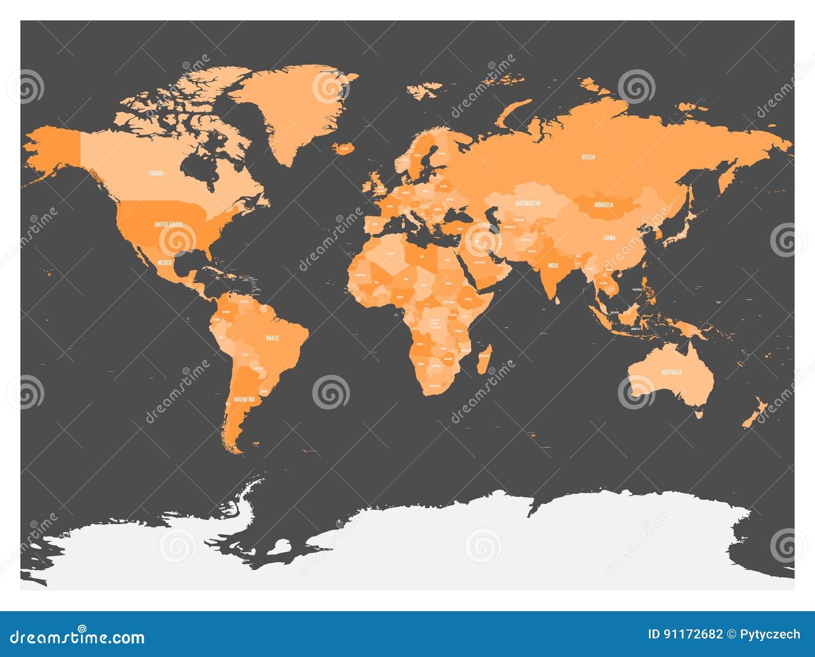 Antarctica Political Map Cartoon Vector