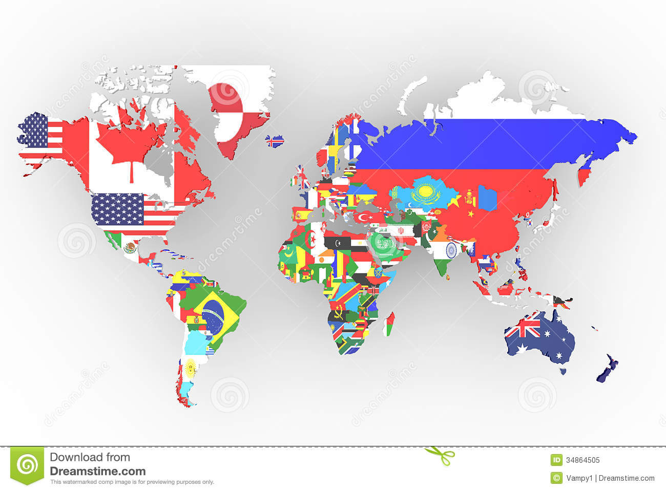 Political map of world stock illustration. Illustration of business ...