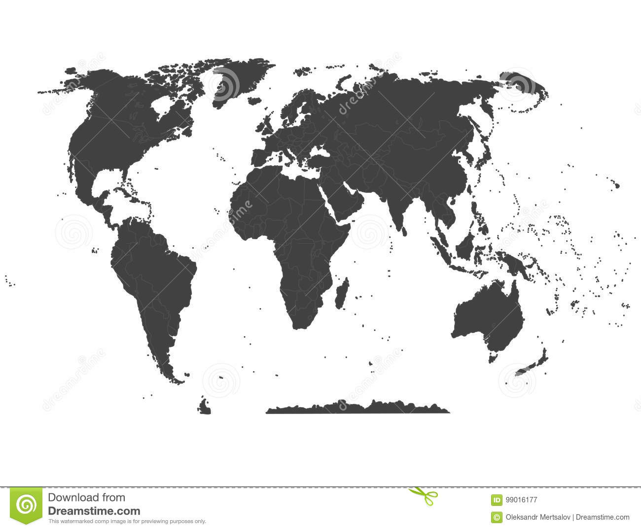 Political map of the world high detail world map all elements are download comp gumiabroncs Image collections