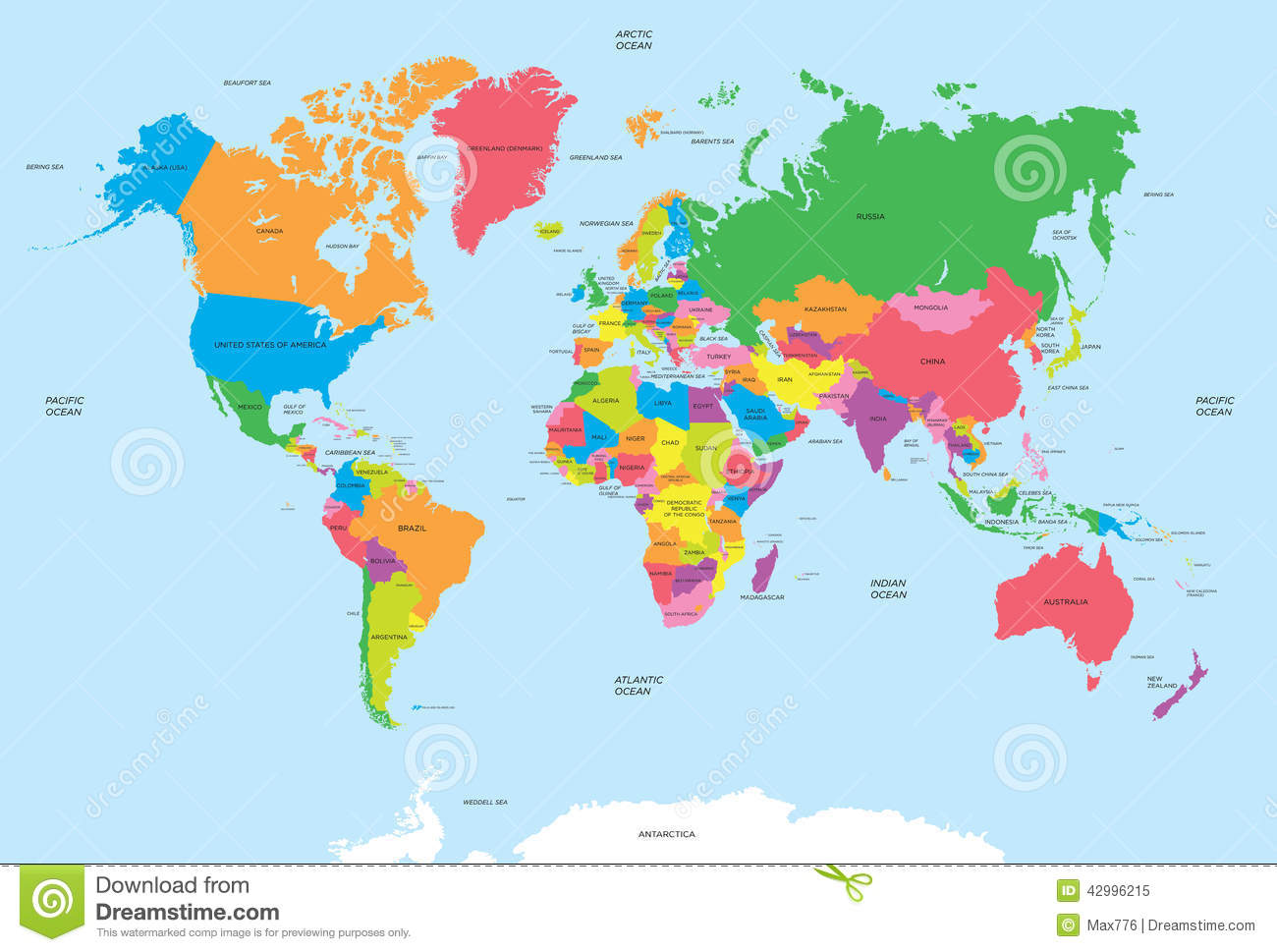 political map world vector your design 42996215