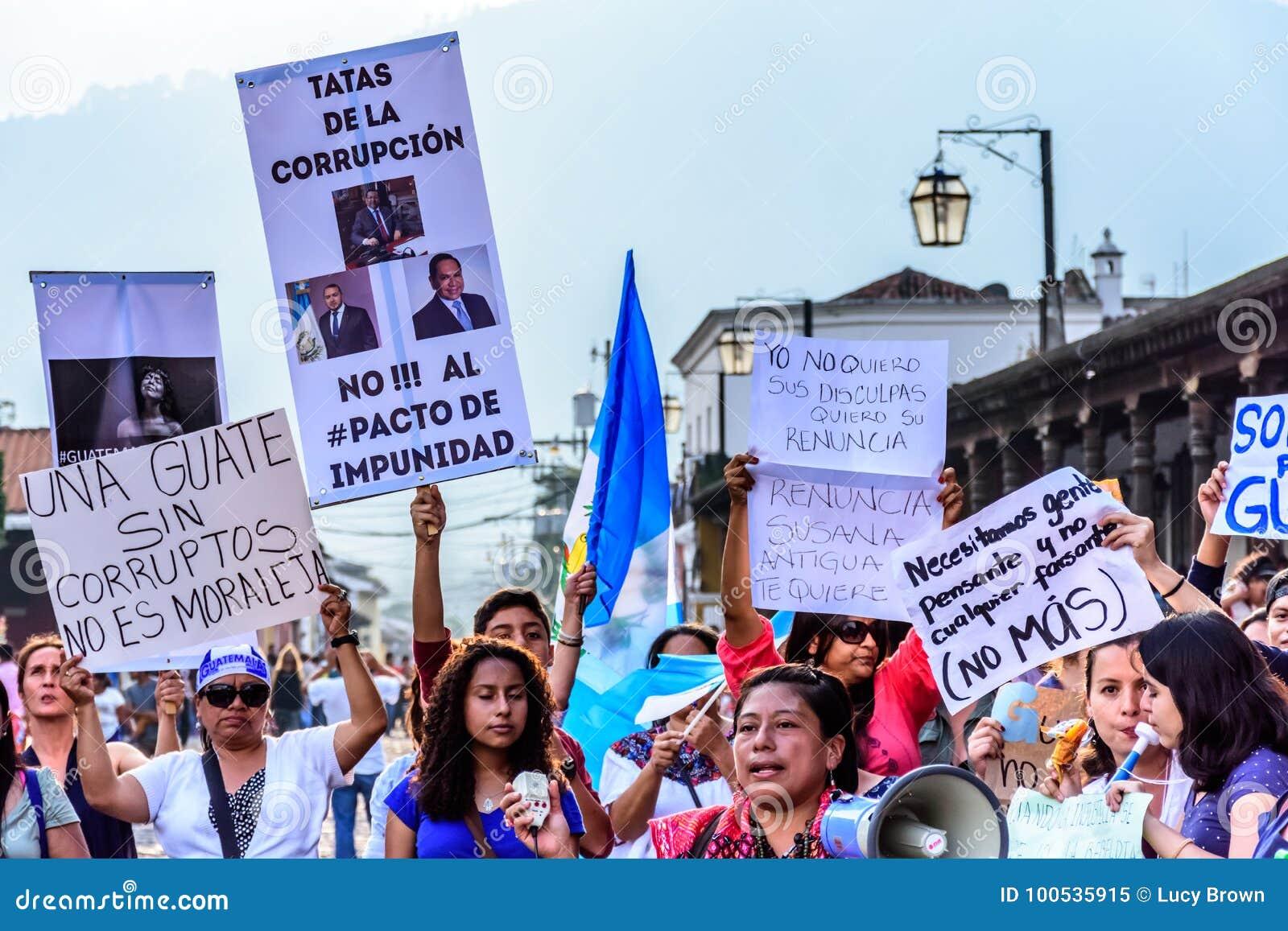 Political Protests, Antigua, Guatemala Editorial Image