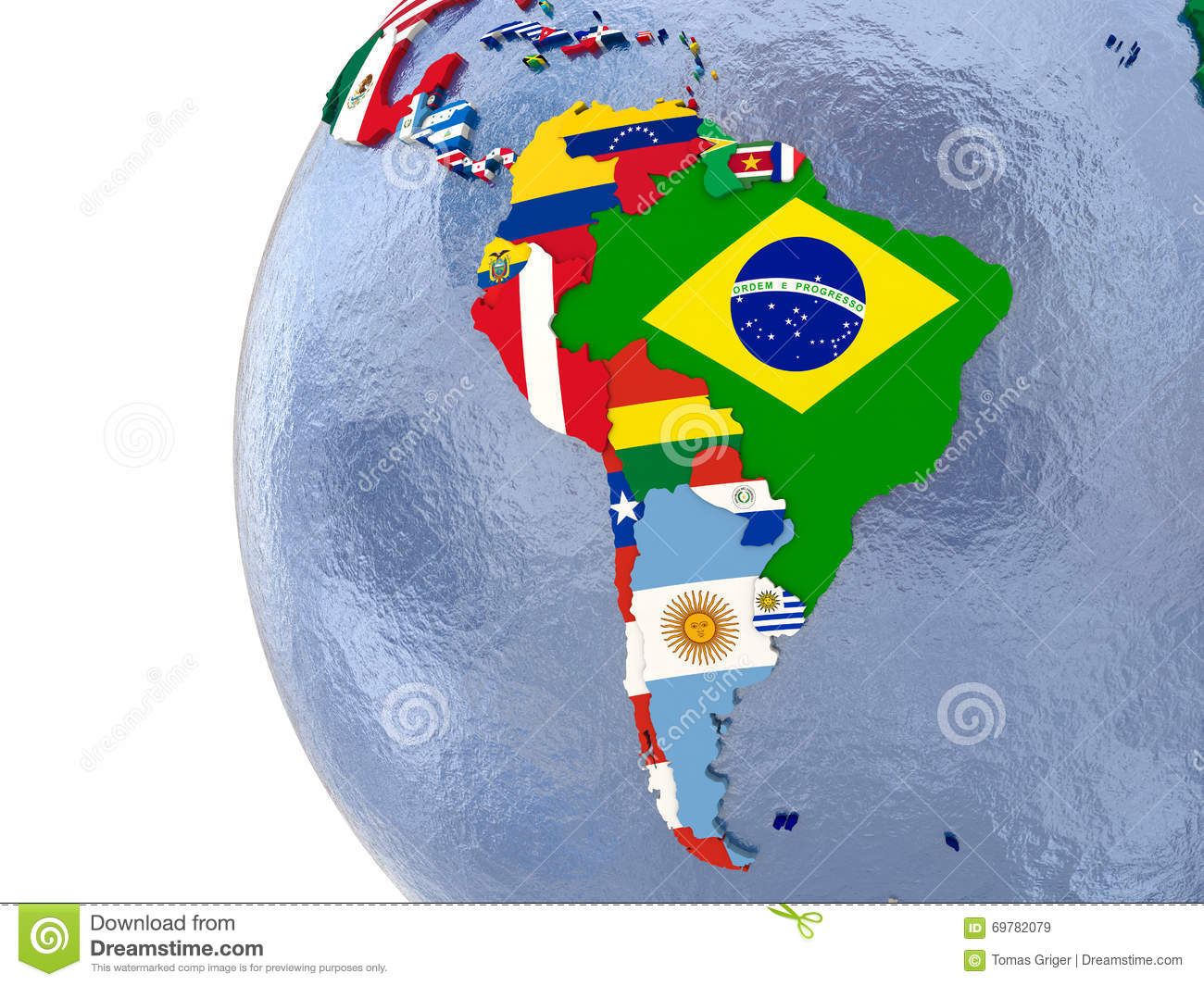 Political South America Map Stock Illustration Illustration Of
