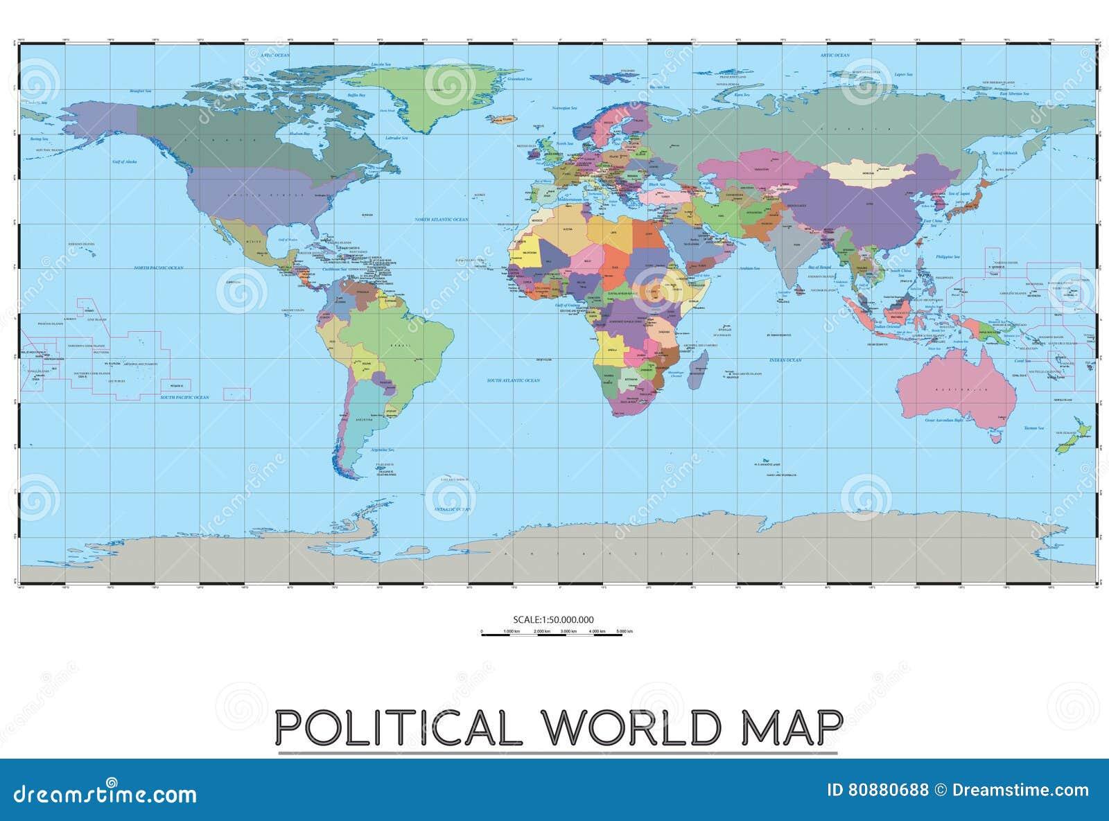 Political world map stock vector illustration of america 80880688 download political world map stock vector illustration of america 80880688 gumiabroncs Images