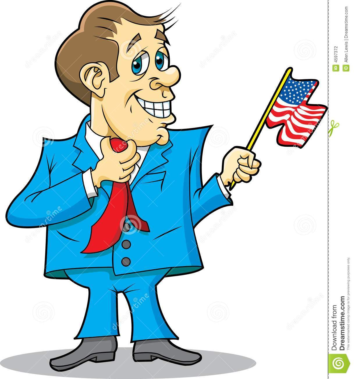 Politician with Flag