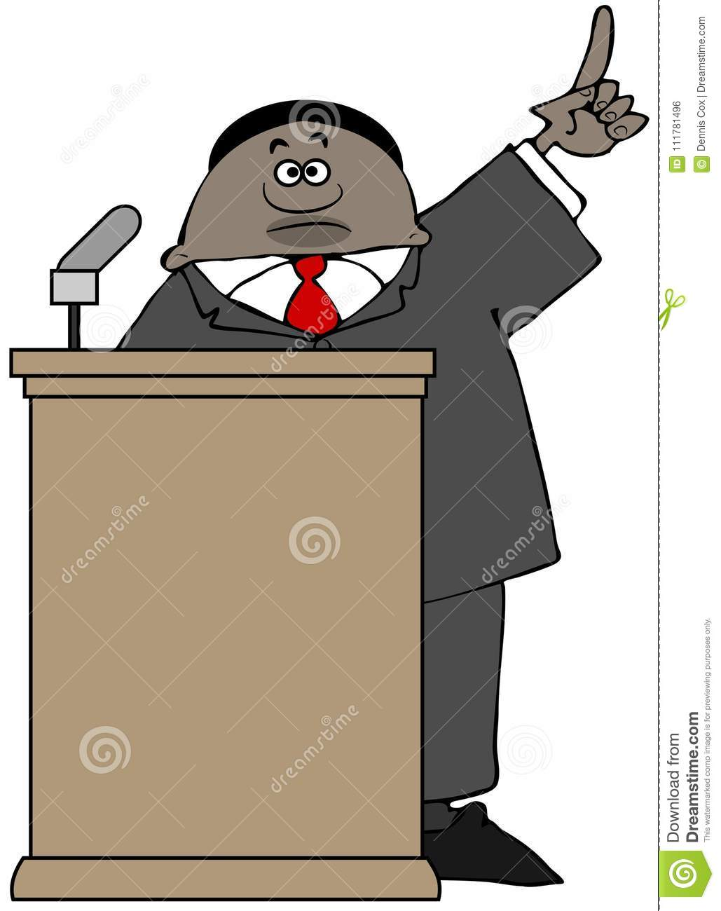 Politician giving a speech behind a podium