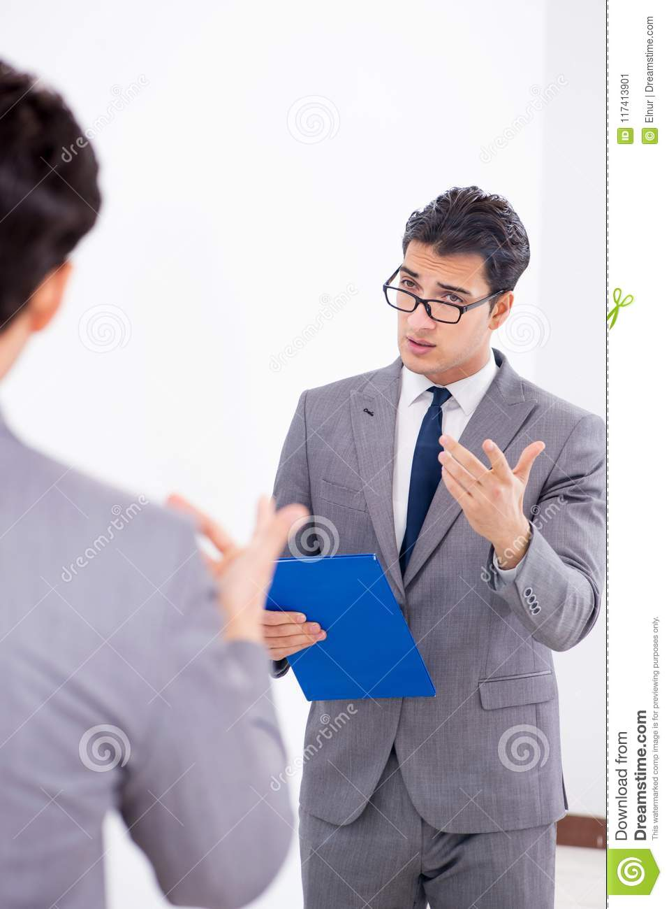The politician planning speach in front of mirror