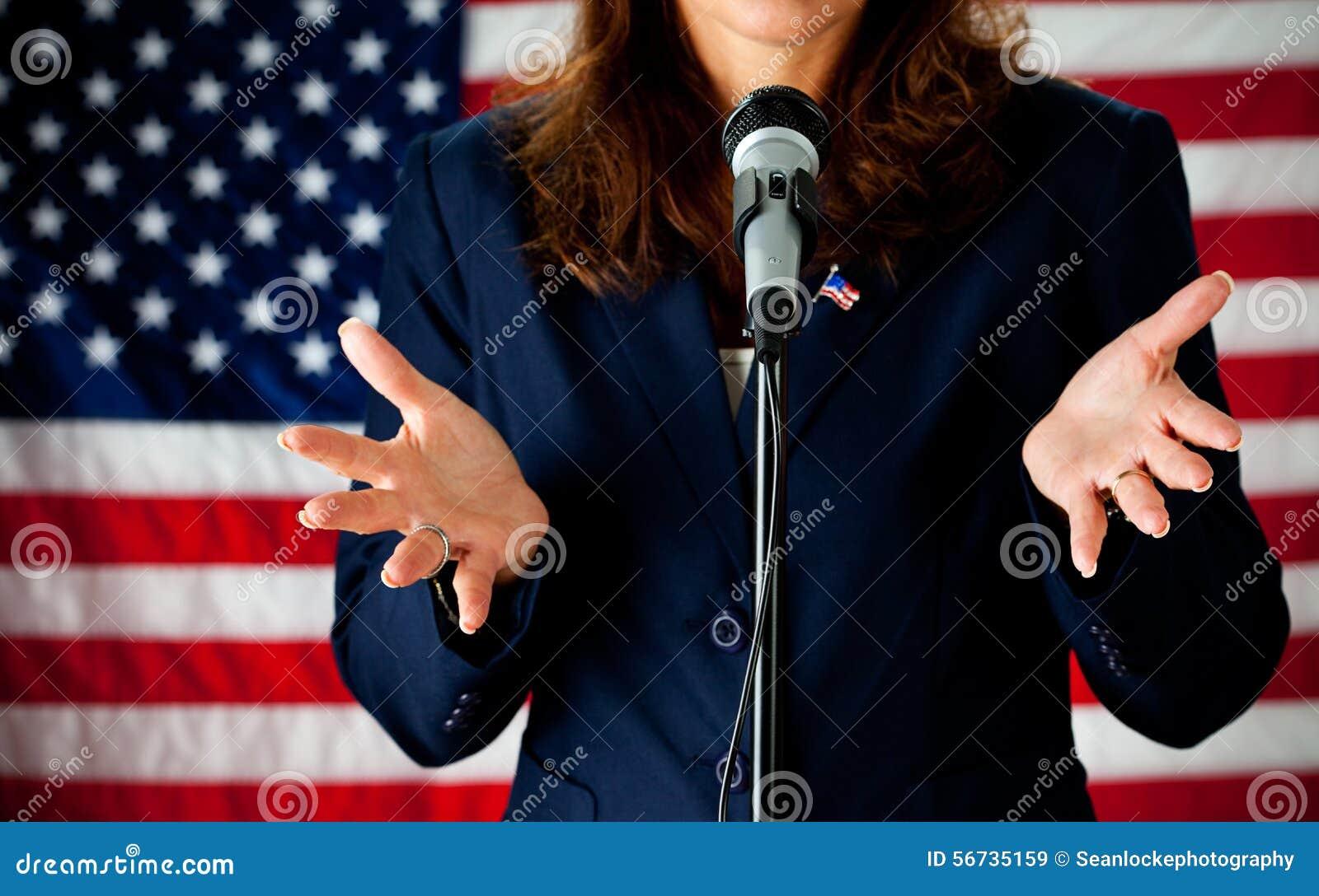 Politicien : Donner un discours